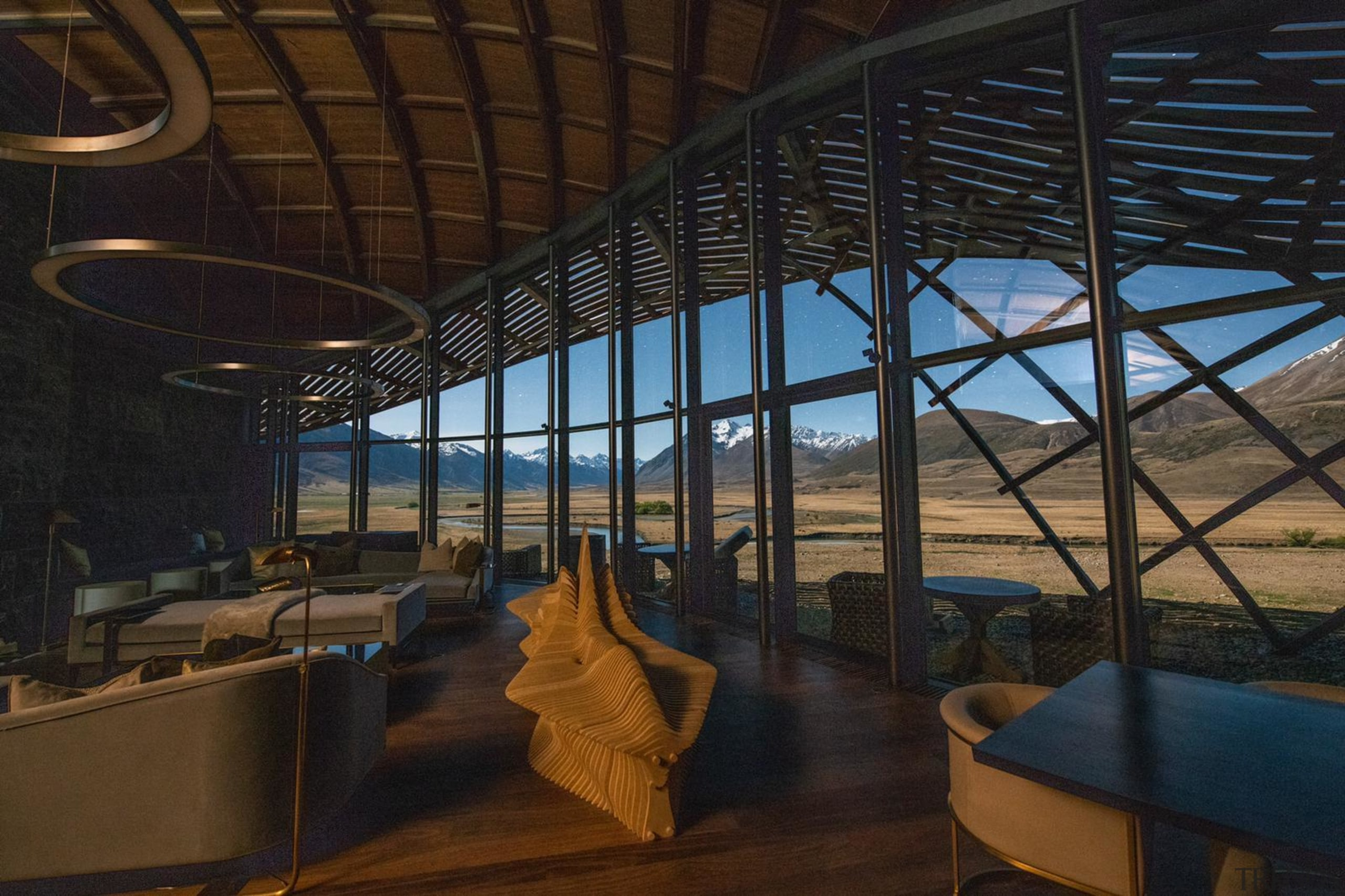 The Lindis, Ahuriri Valley, New Zealand - architecture architecture, building, interior design, room, black, brown