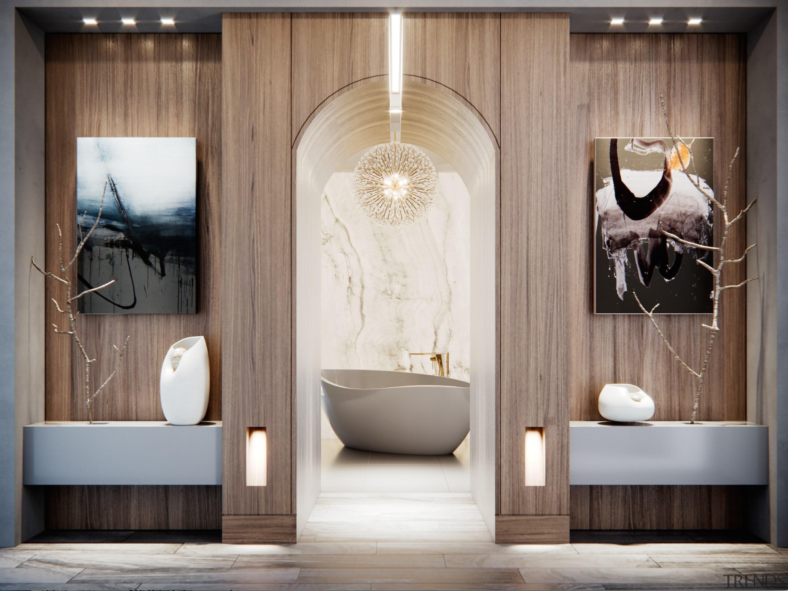 Read the full story architecture, bathroom, building, ceiling, door, floor, flooring, furniture, interior design, plumbing fixture, room, tile, gray