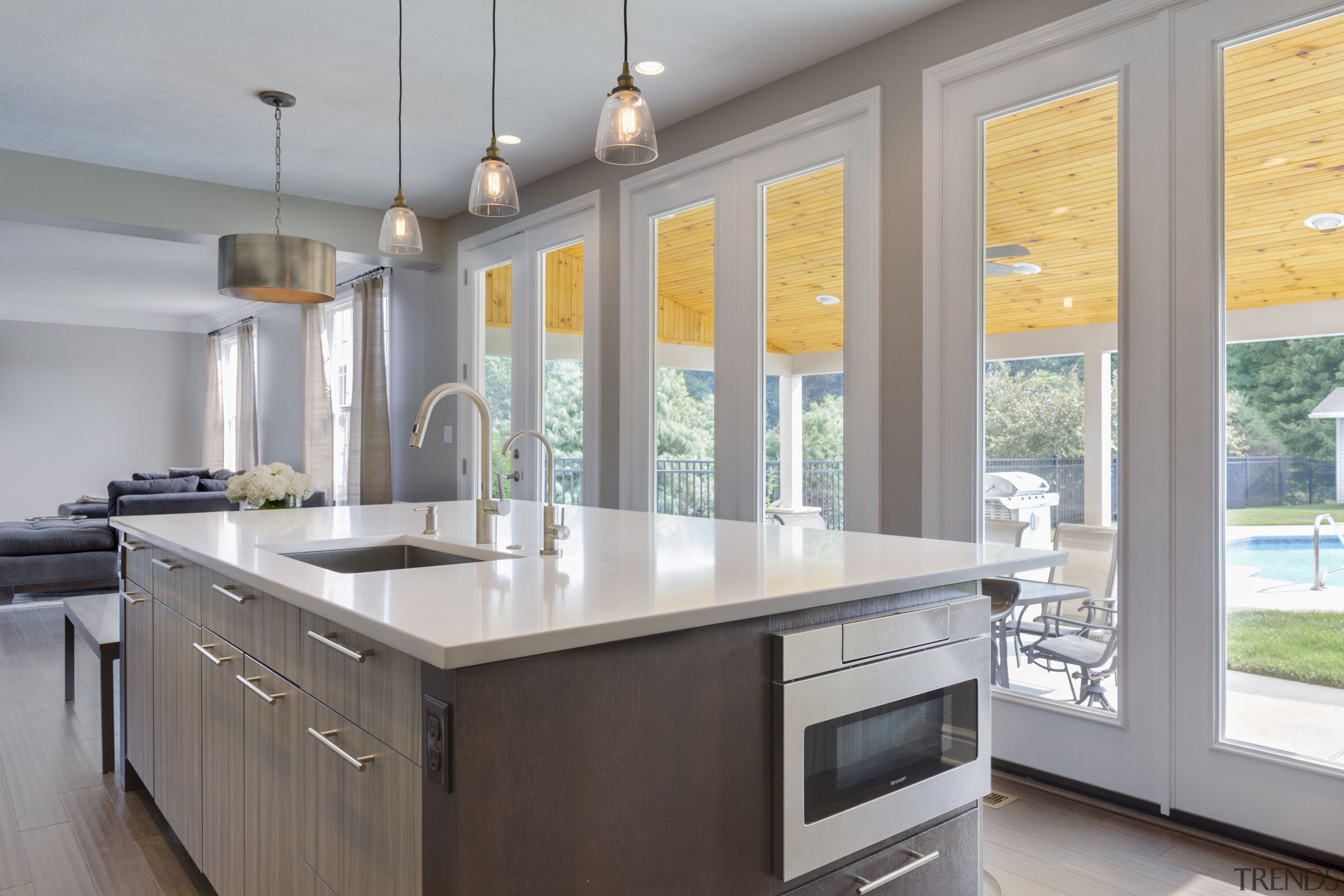 Functionality everywhere in this kitchen by Lauren Levant cabinetry, countertop, cuisine classique, interior design, kitchen, real estate, window, gray