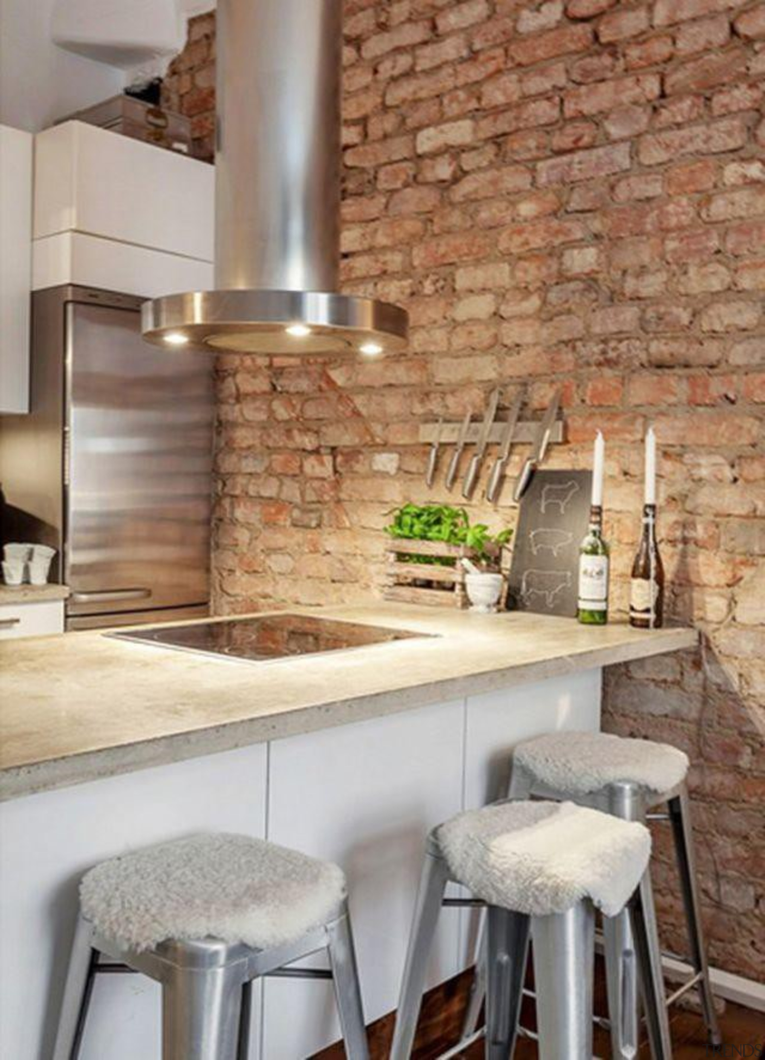 Start a myTrends ProjectCreate an ideas hub for countertop, floor, flooring, hearth, interior design, kitchen, table, tile, wall, gray, brown