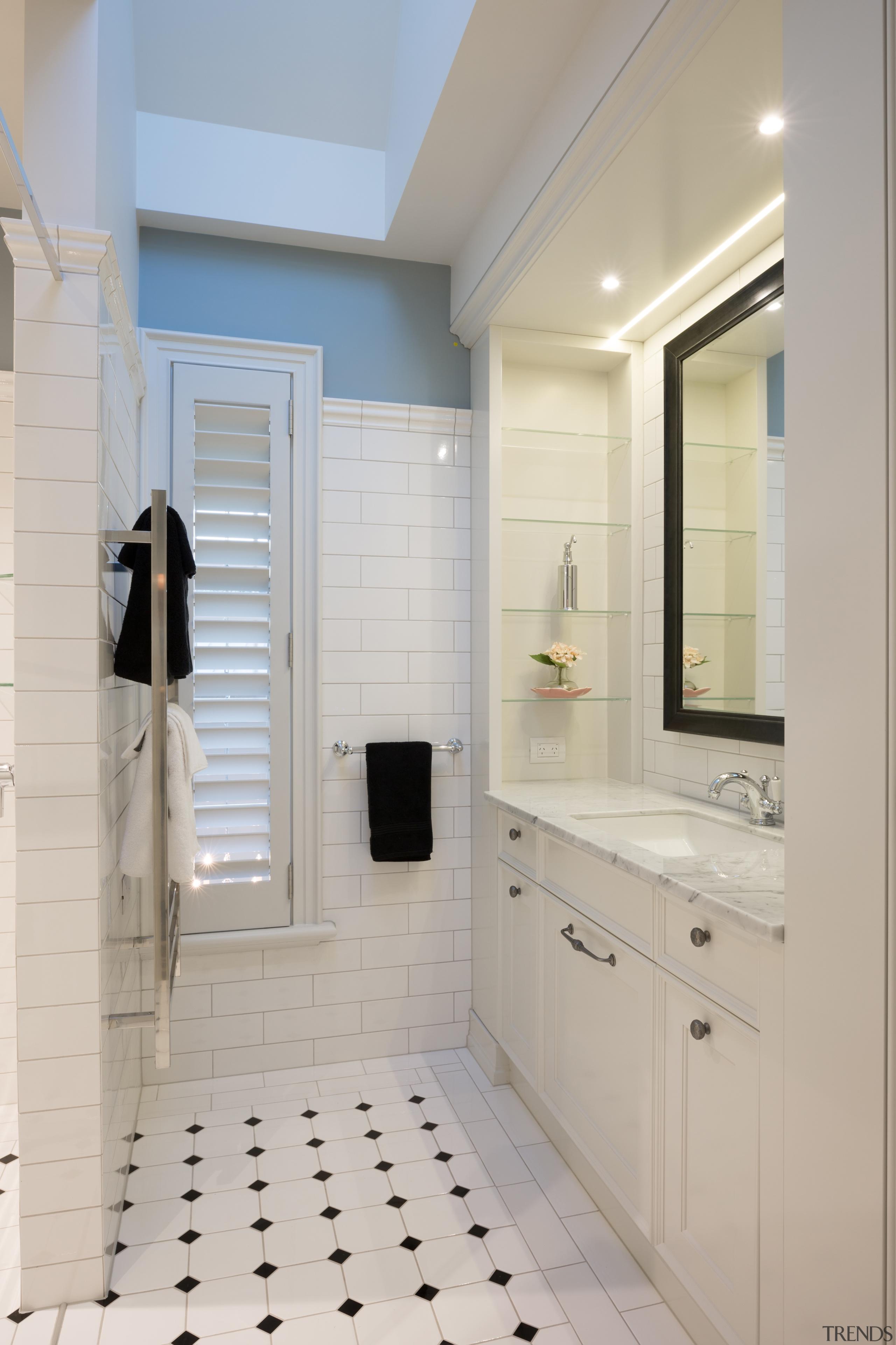 Campbells Bay - bathroom   bathroom accessory   bathroom, bathroom accessory, bathroom cabinet, cabinetry, countertop, floor, interior design, room, sink, gray