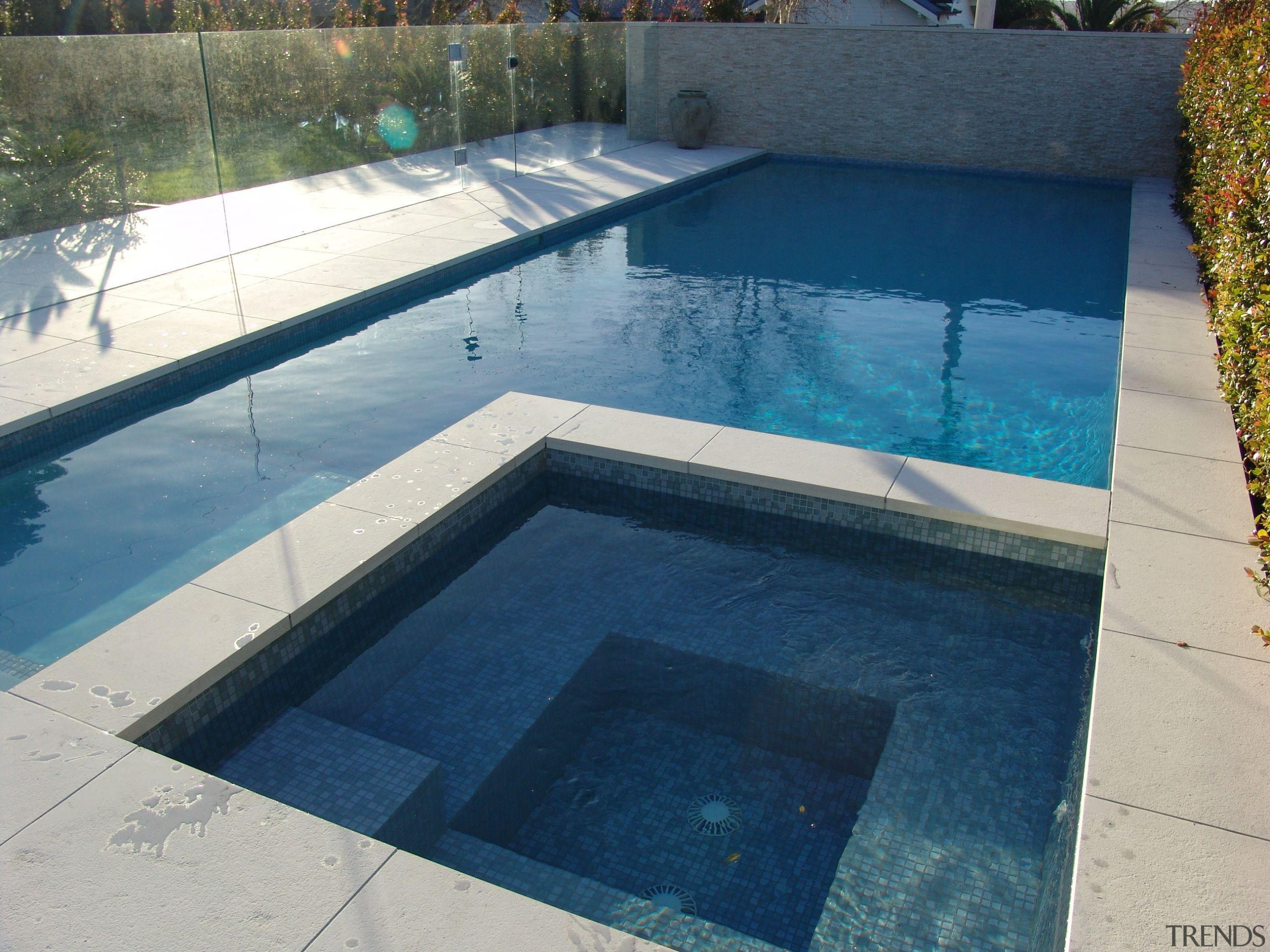 http://goo.gl/PfHsAn - Bisazza pool in Auckland residential home composite material, floor, leisure, property, swimming pool, water, water resources, gray, blue