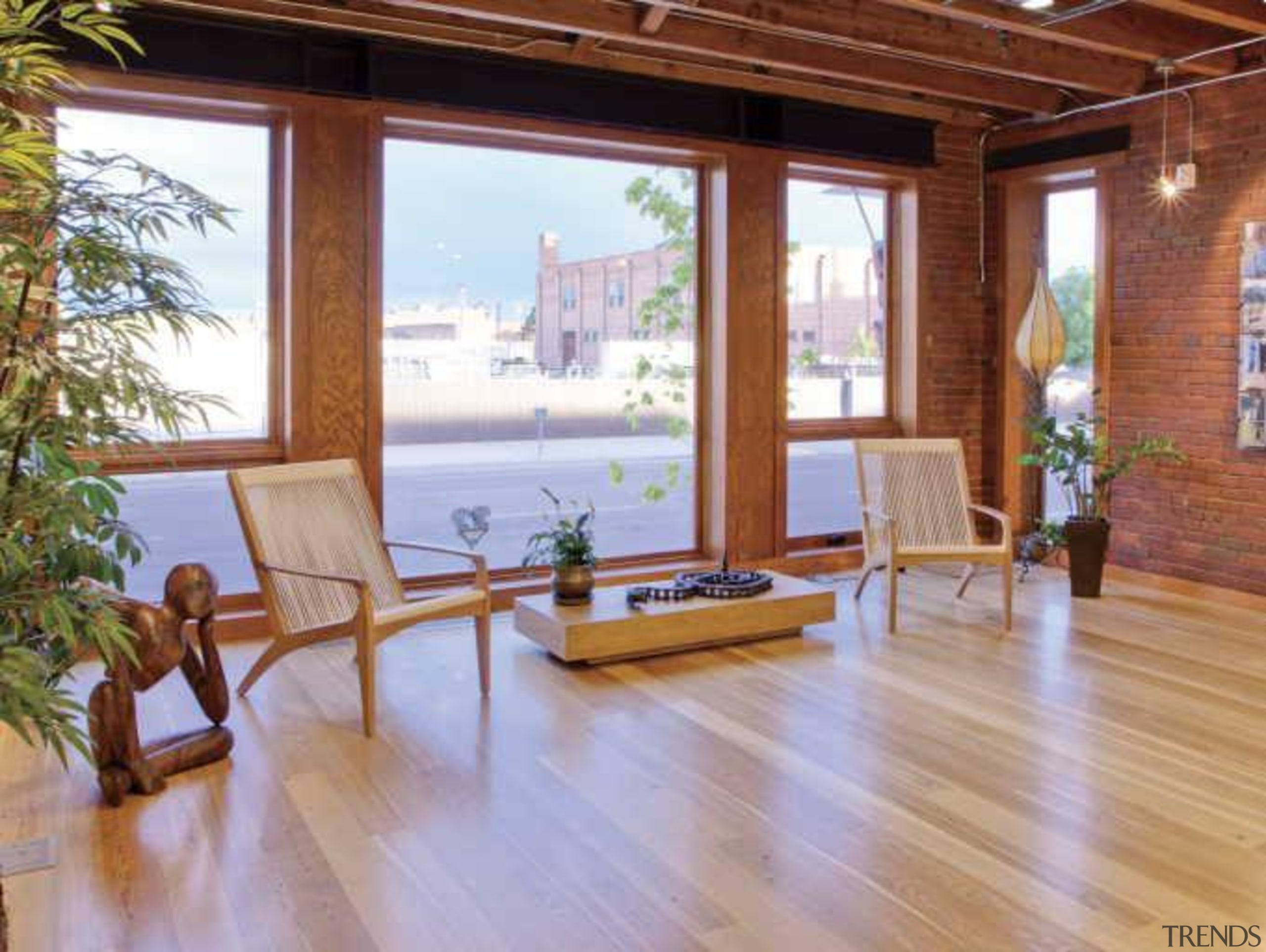 Warmboard provides and eco friendly, quiet and efficient deck, estate, floor, flooring, hardwood, home, house, interior design, laminate flooring, living room, property, real estate, window, wood, wood flooring, wood stain, brown