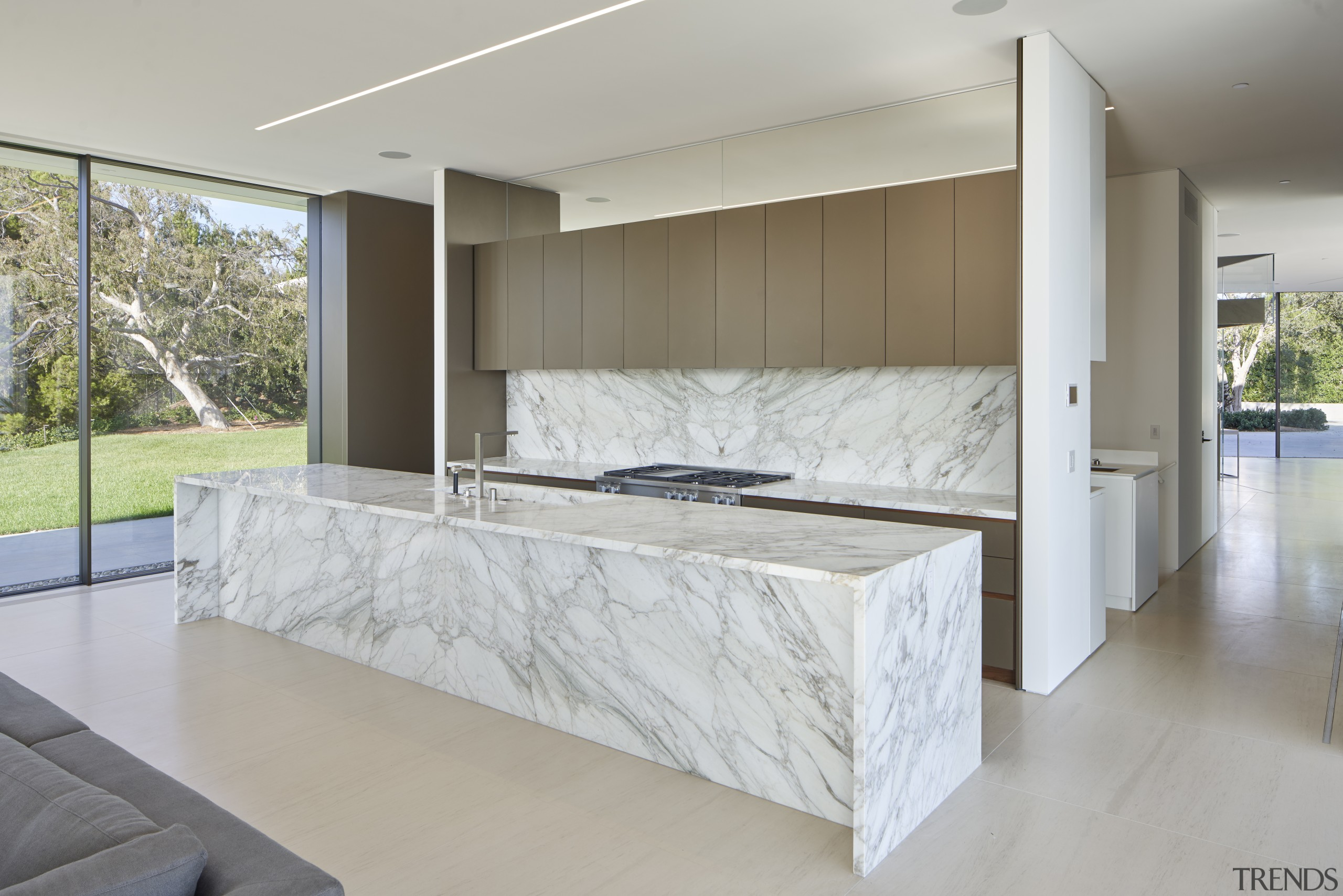Balancing scale, views and comfort was the biggest architecture, building, cabinetry, ceiling, concrete, countertop, design, floor, flooring, furniture, glass, home, house, interior design, living room, property, real estate, room, table, wall, gray