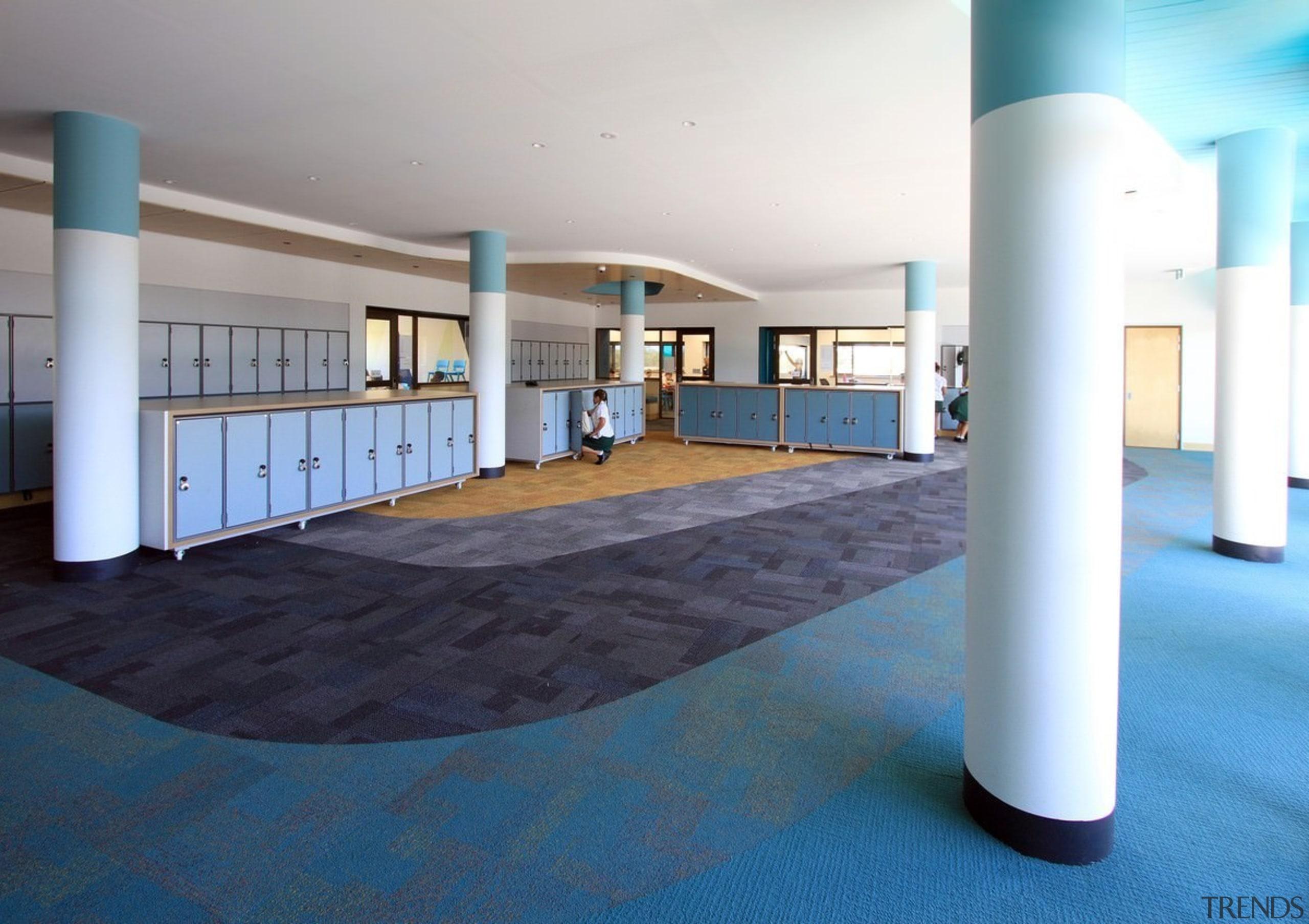 Bunbury Catholic College – Mercy Campus - Bunbury floor, flooring, interior design, leisure centre, lobby, real estate, structure, teal, white