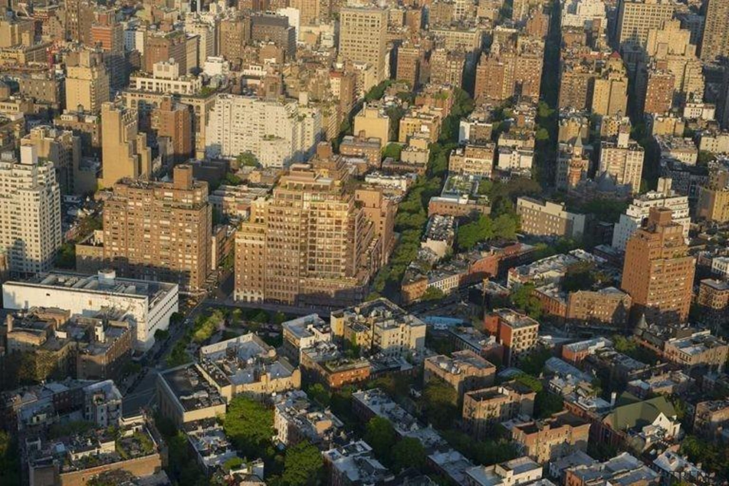 Jon Bon Jovi's new apartment in NYC – aerial photography, bird's eye view, city, cityscape, daytime, historic site, landmark, metropolis, metropolitan area, neighbourhood, residential area, sky, skyline, suburb, tower block, town, urban area, brown, black