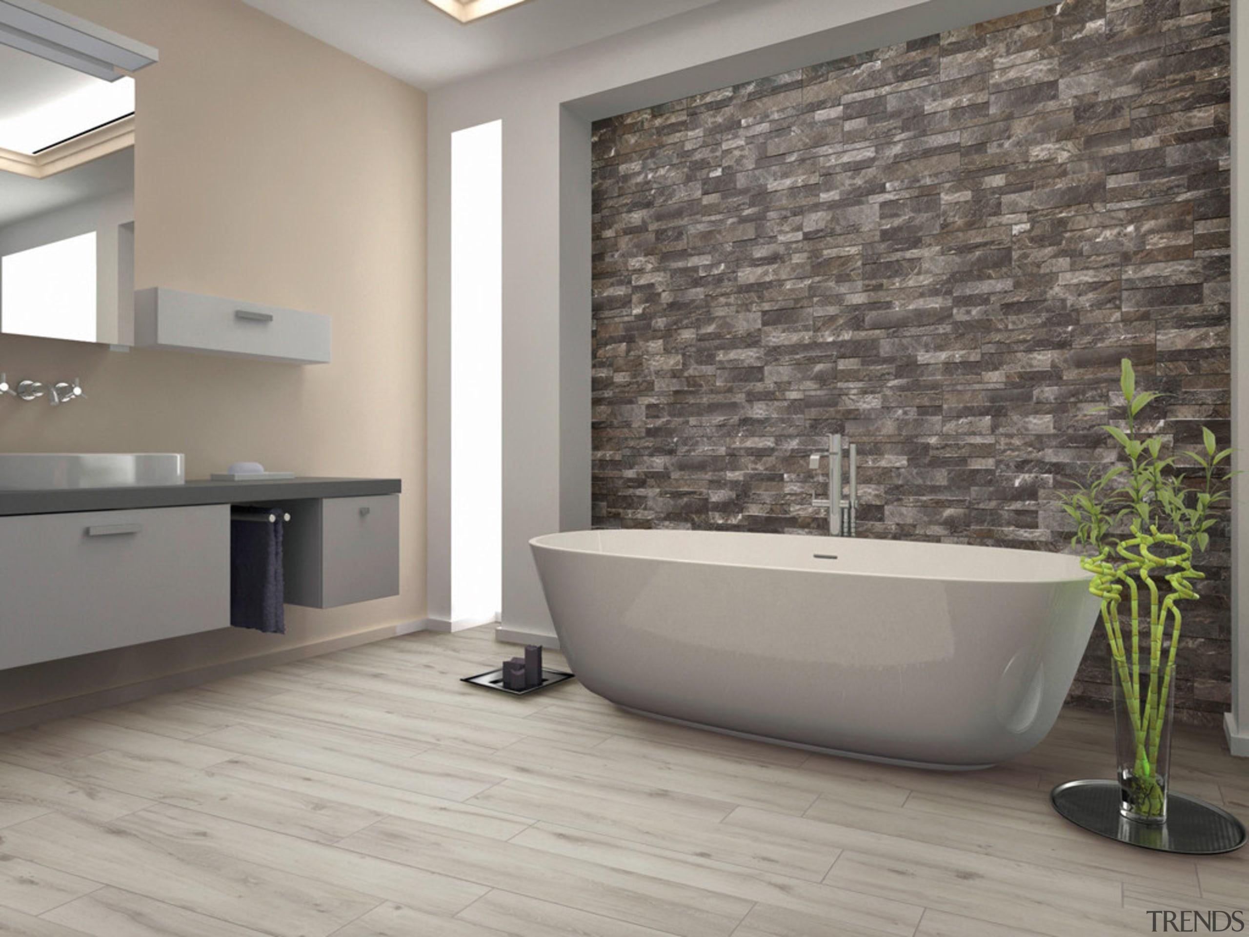 Gioia Greige 150x610 - Gioia Greige 150x610 - bathroom, floor, flooring, interior design, plumbing fixture, tap, tile, wall, gray