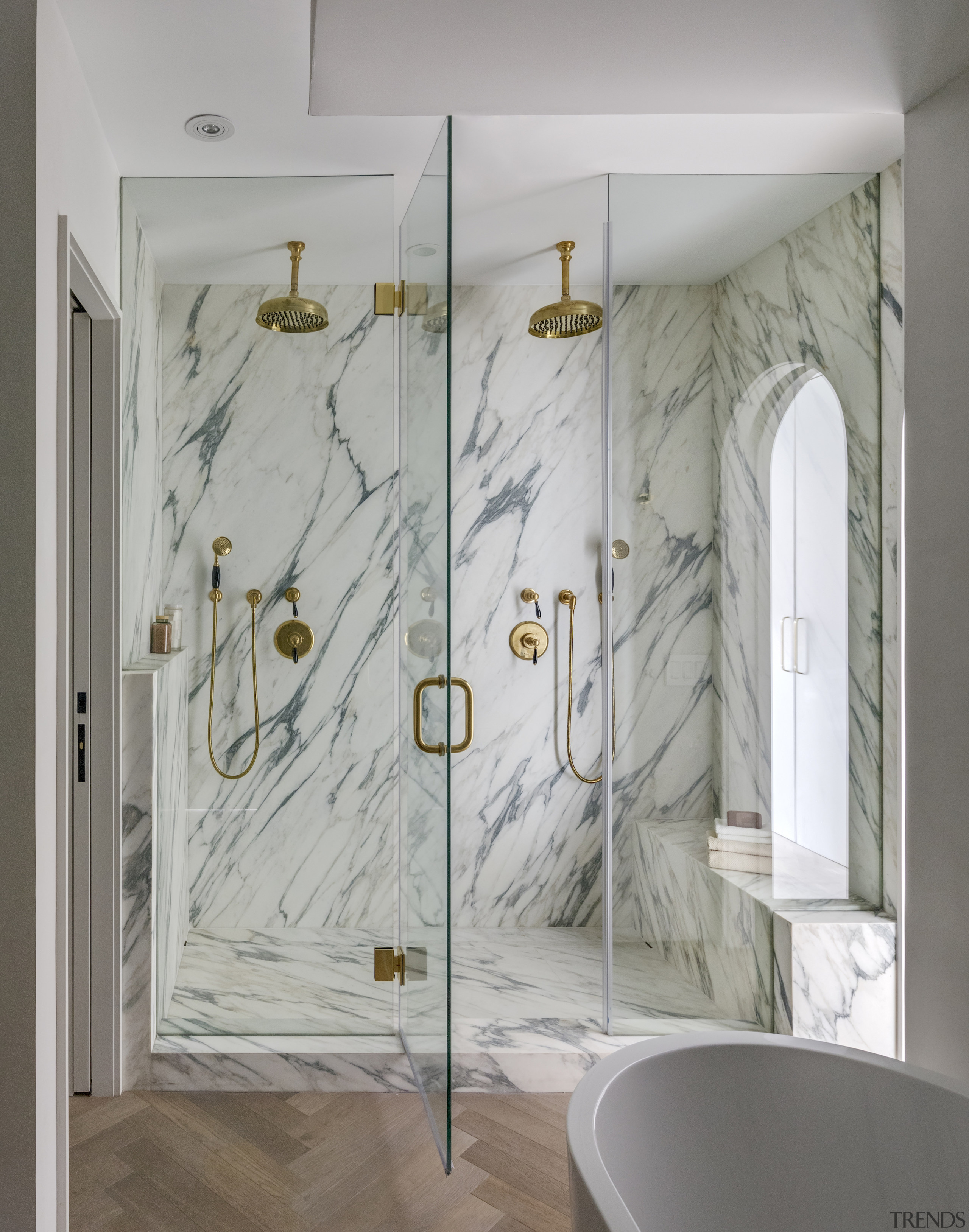 The exotic look of marble features in the