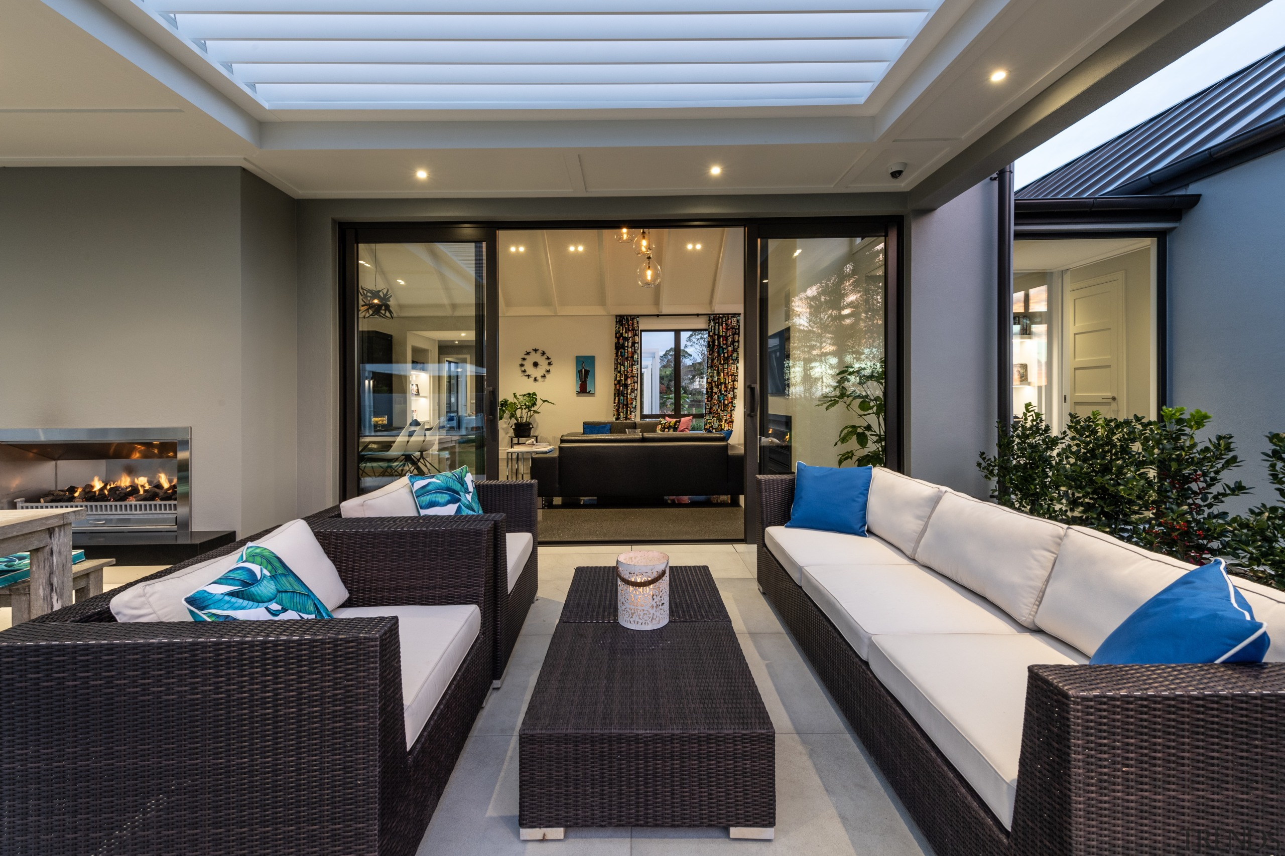​​​​​​​Occupants of the north-facing covered outdoor living area