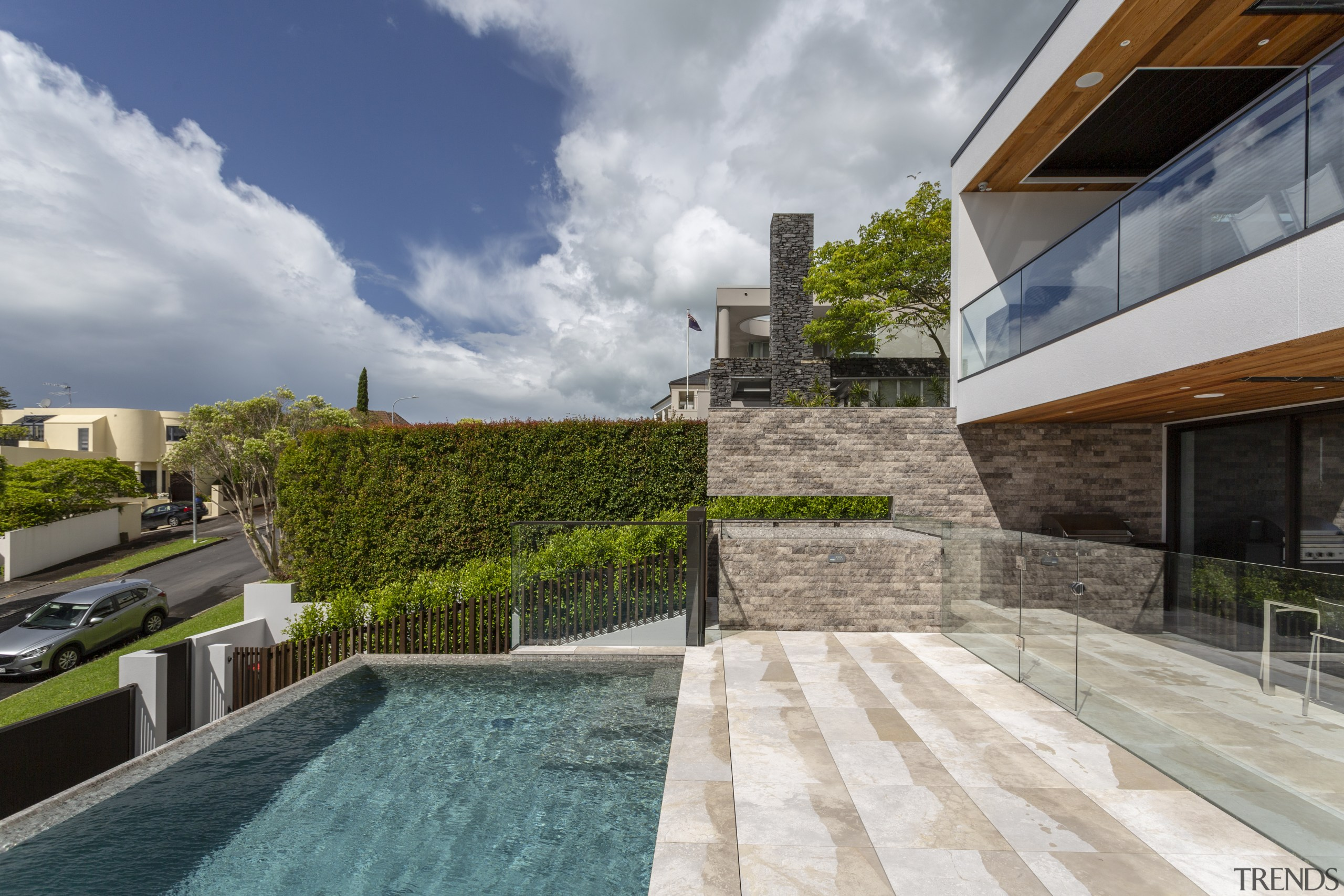 On this home by Jessop Architects, the spa gray