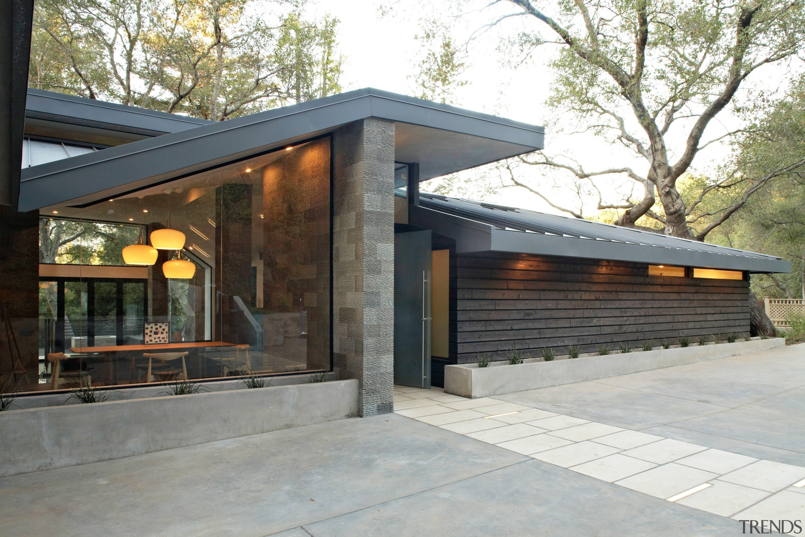 This woodland home by (fer) studio is designed architecture, home, house, real estate, gray