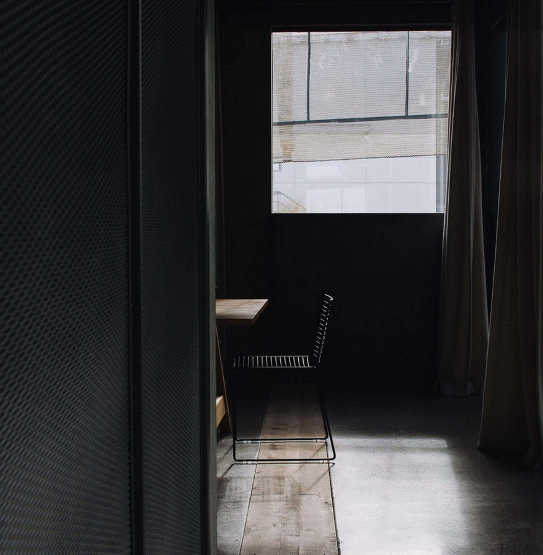 Winner of the Display Building Category at the architecture, door, floor, interior design, light, window, black