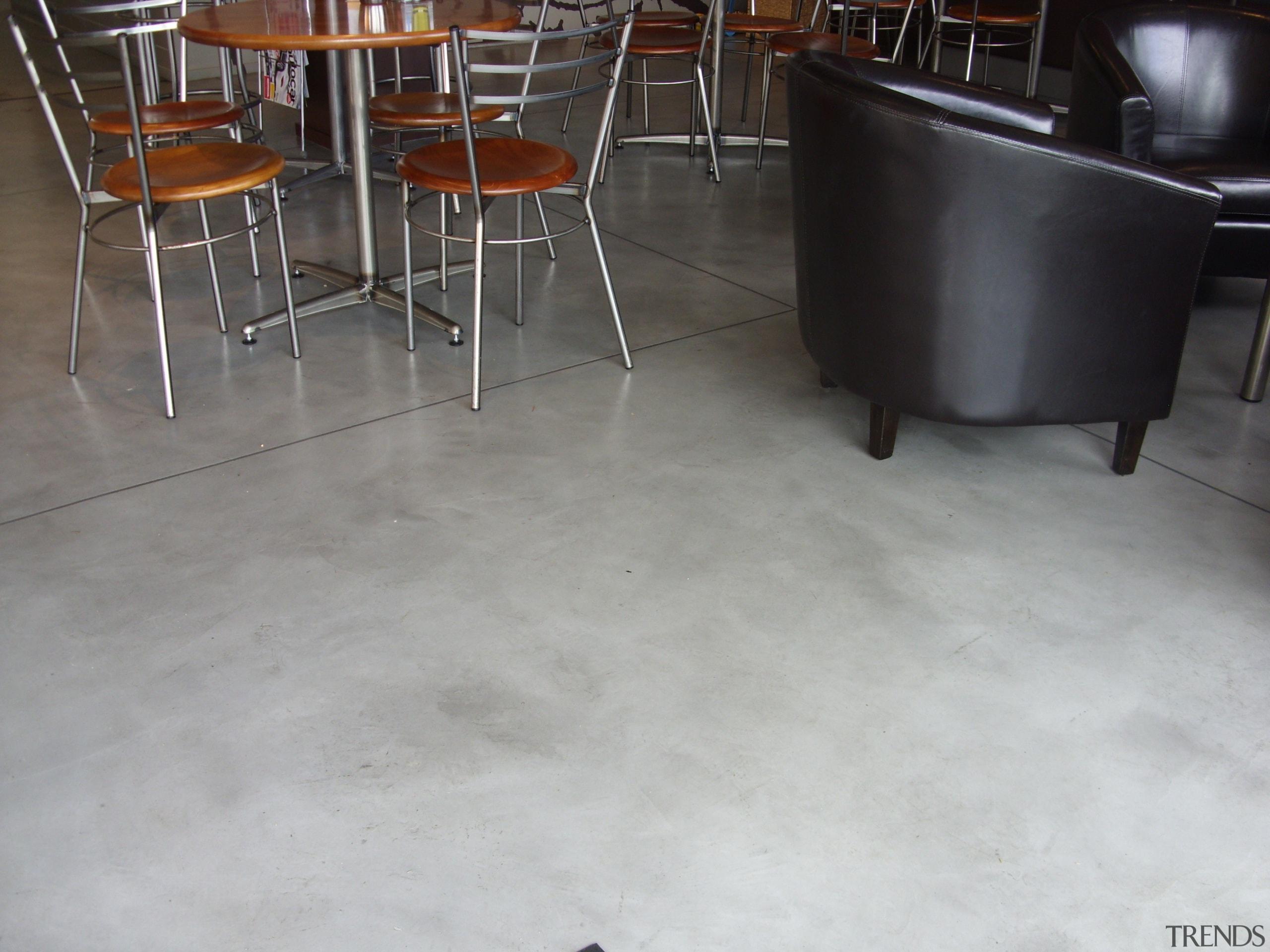 Micro Topping 34 - Micro Topping_34 - chair chair, concrete, floor, flooring, furniture, hardwood, laminate flooring, table, tile, wood, wood flooring, gray, black