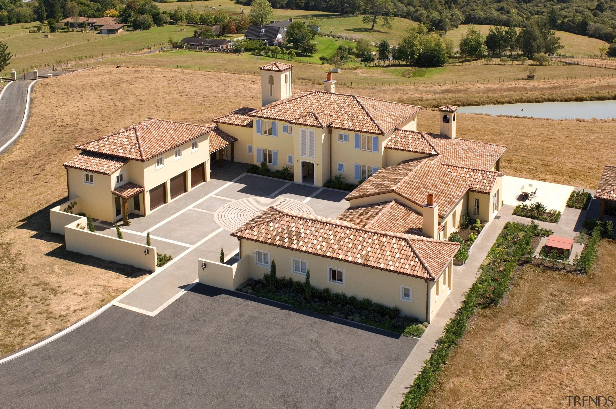 134 mahoenui 4 - Mahoenui 4 - estate estate, home, house, mansion, property, real estate, residential area, roof, villa, orange, brown