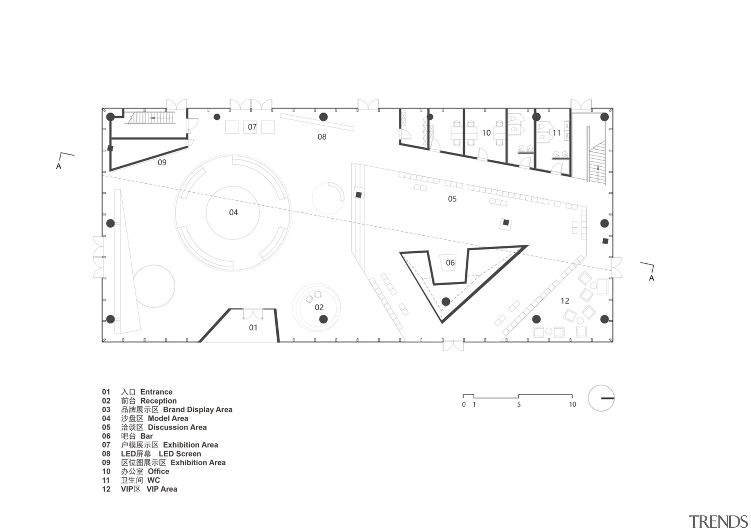 GF Layout Plan 首层平面 - design | diagram design, diagram, drawing, floor plan, font, line, parallel, rectangle, technical drawing, text, white
