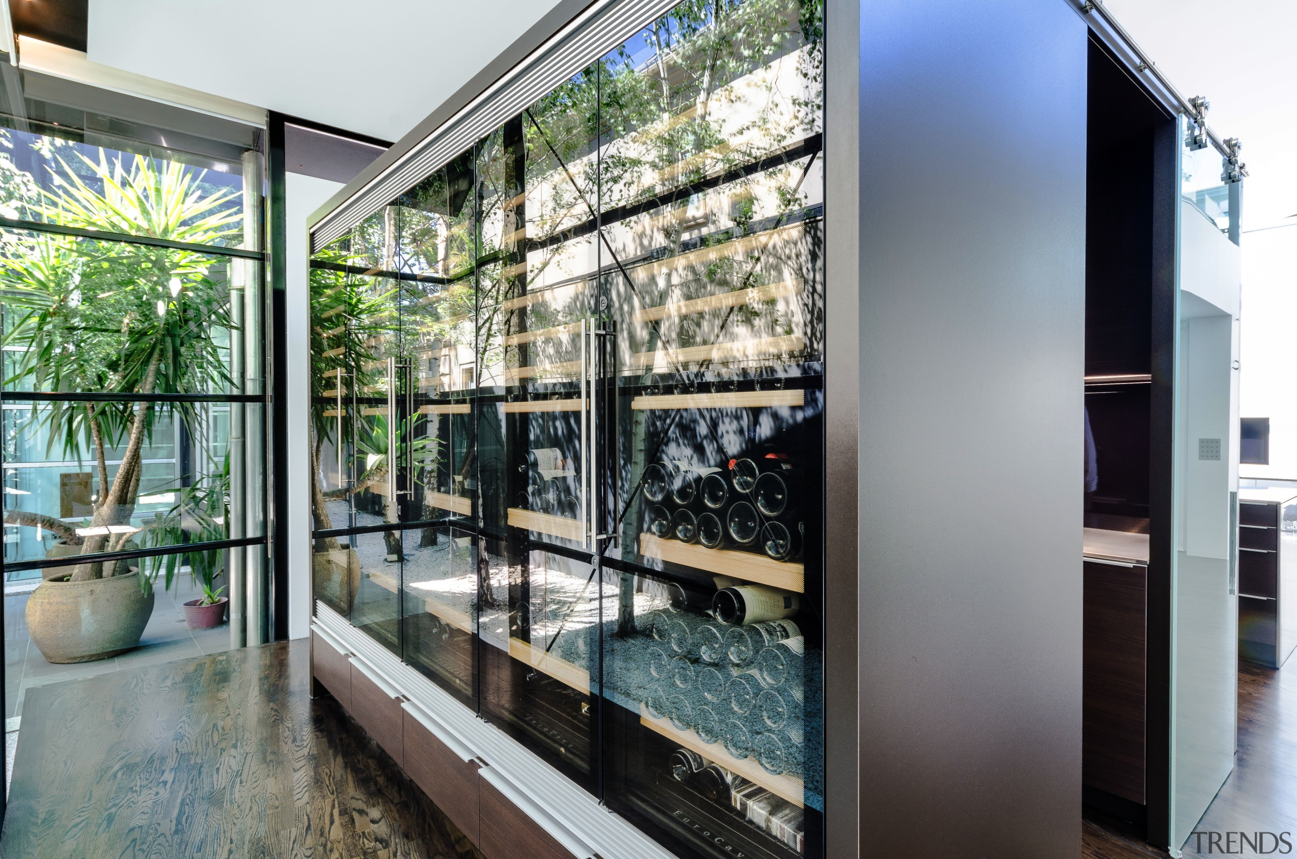 Not one, not two, but rather five high-tech architecture, glass, house, real estate, window, gray