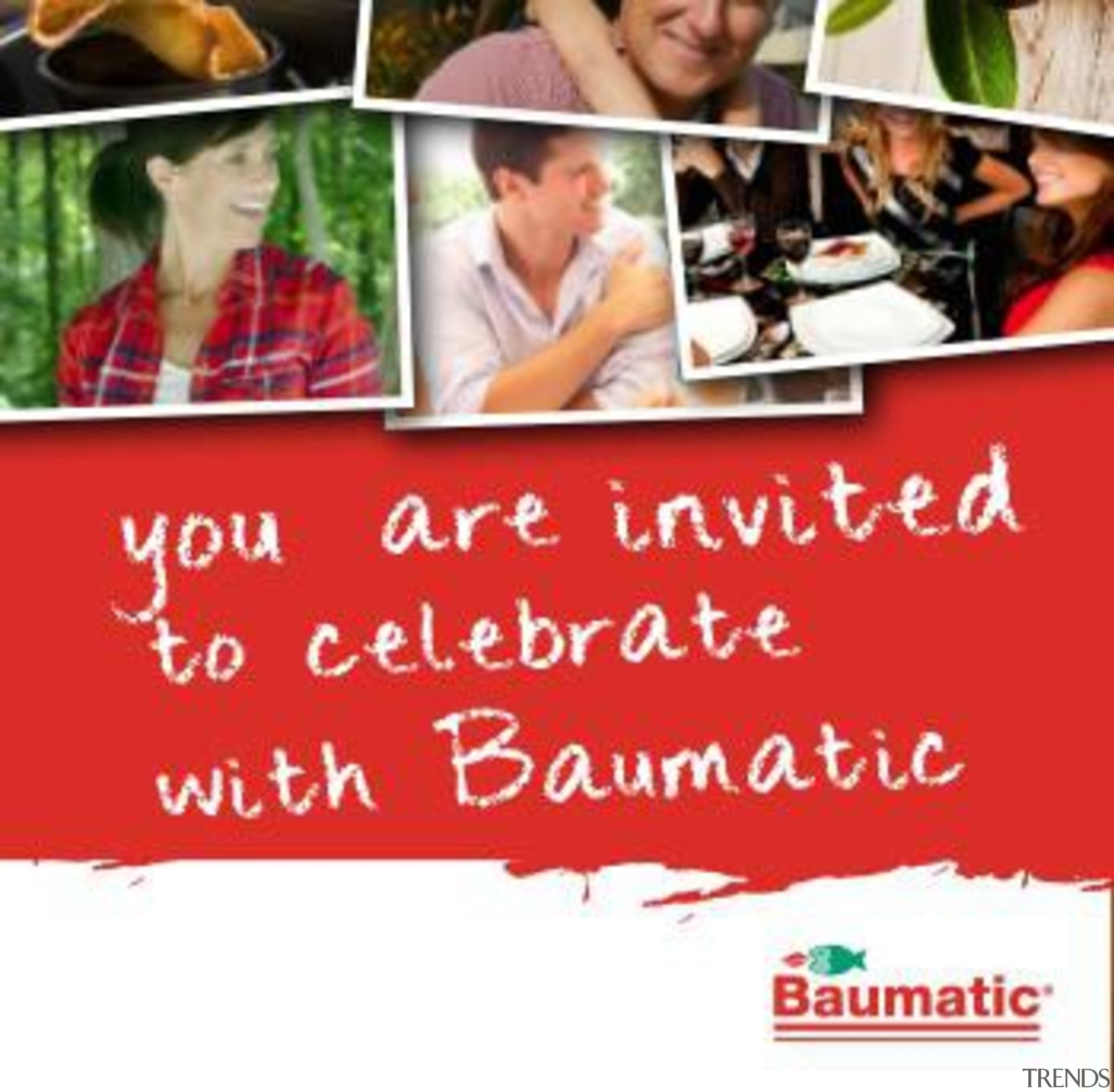 For more information, please visit baumatic.co.nz advertising, banner, text, red, white