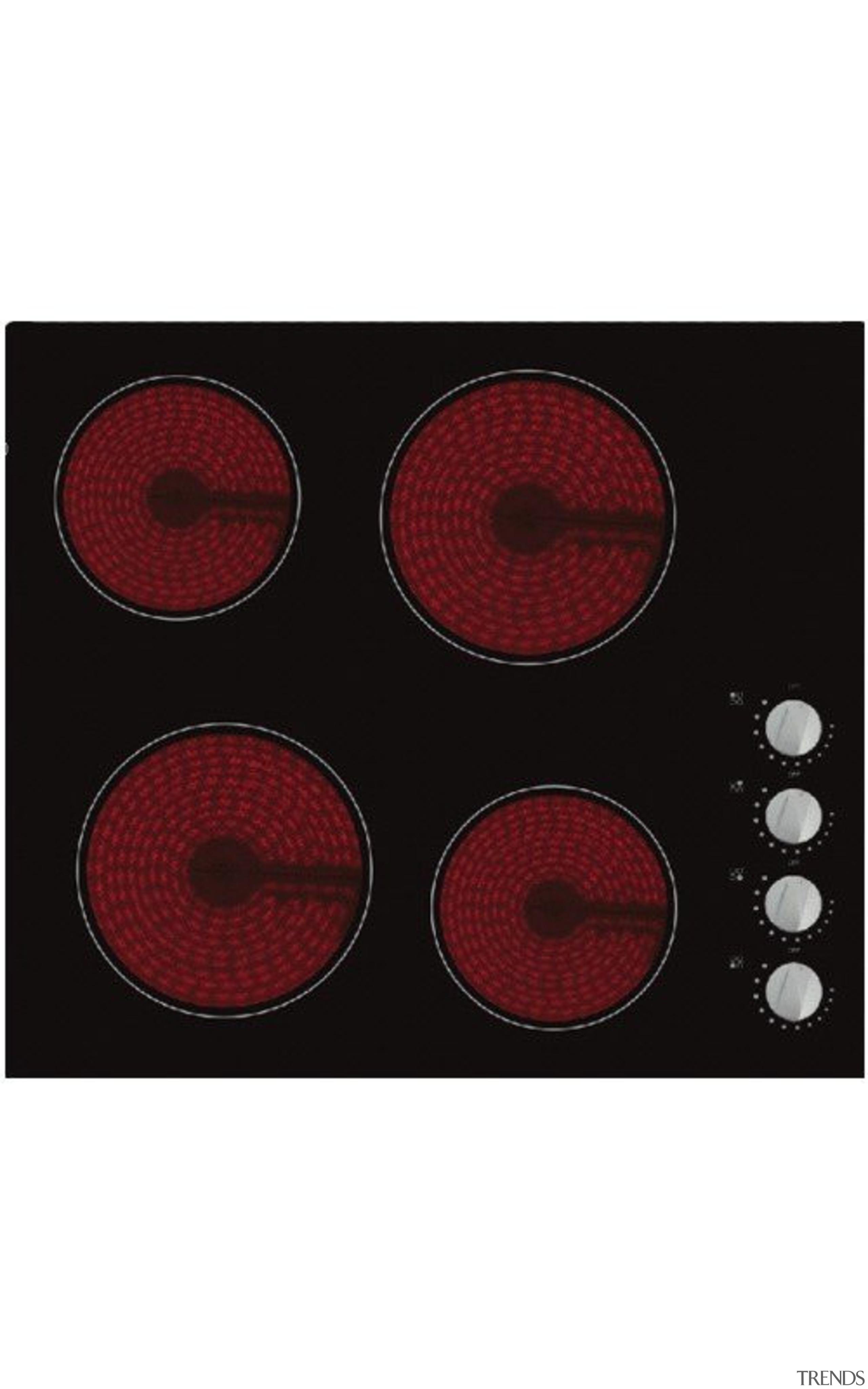 60cm Ceramic CooktopKnob control, Timer, Residual heat indicator, automotive tail & brake light, product, red, white, black