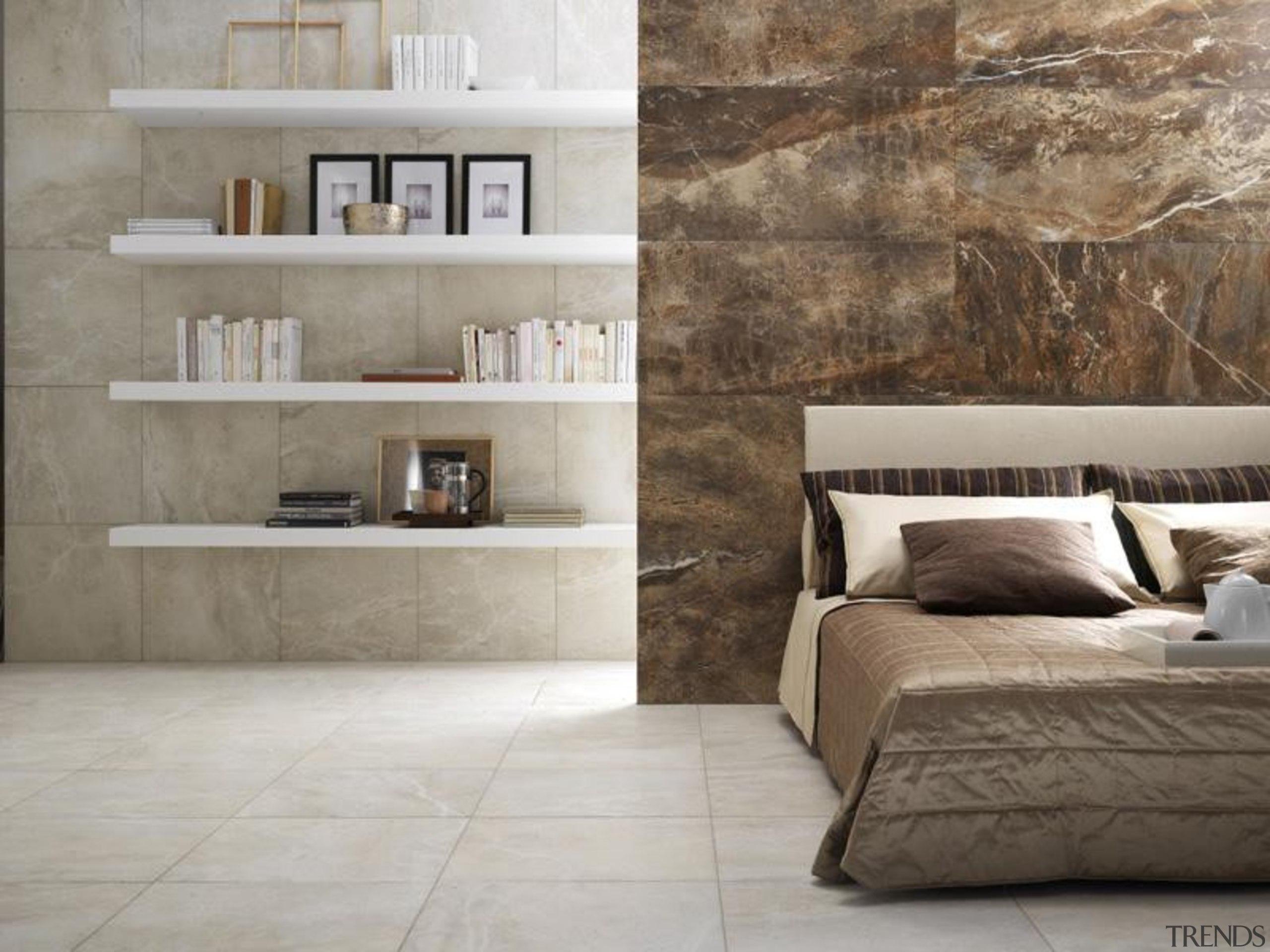 Thrill bone interior bedroom floor and wall tiles floor, flooring, furniture, interior design, laminate flooring, living room, shelf, tile, wall, wood, wood flooring, gray