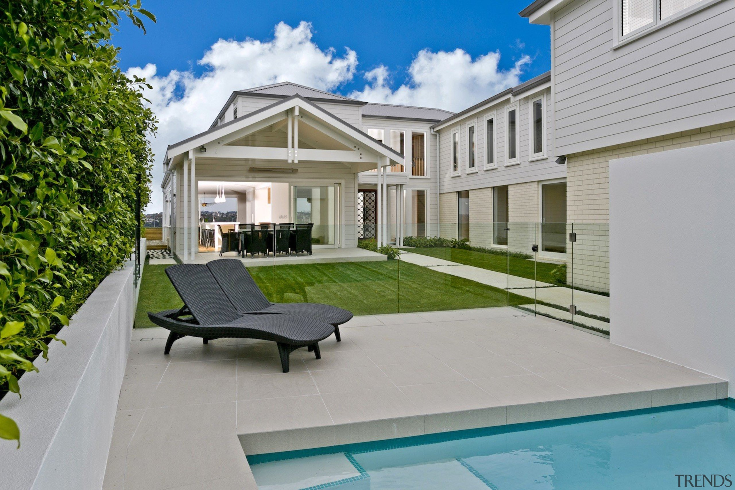 QPC Build Group backyard, estate, home, house, property, real estate, residential area, roof, villa, window, gray