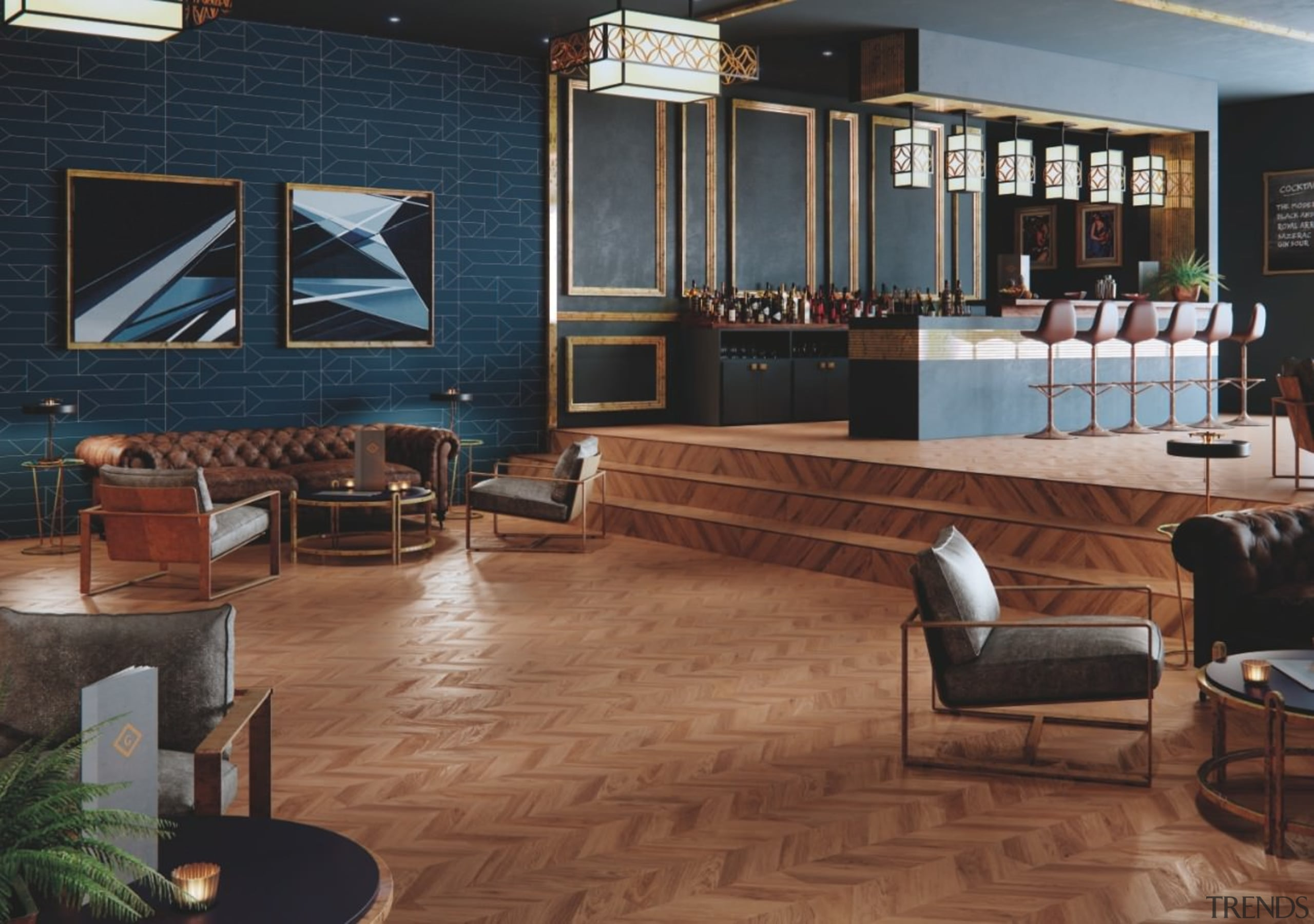 Installing Expona Commercial flooring solutions isn't taxing. floor, flooring, hardwood, interior design, living room, lobby, wood flooring, brown, black