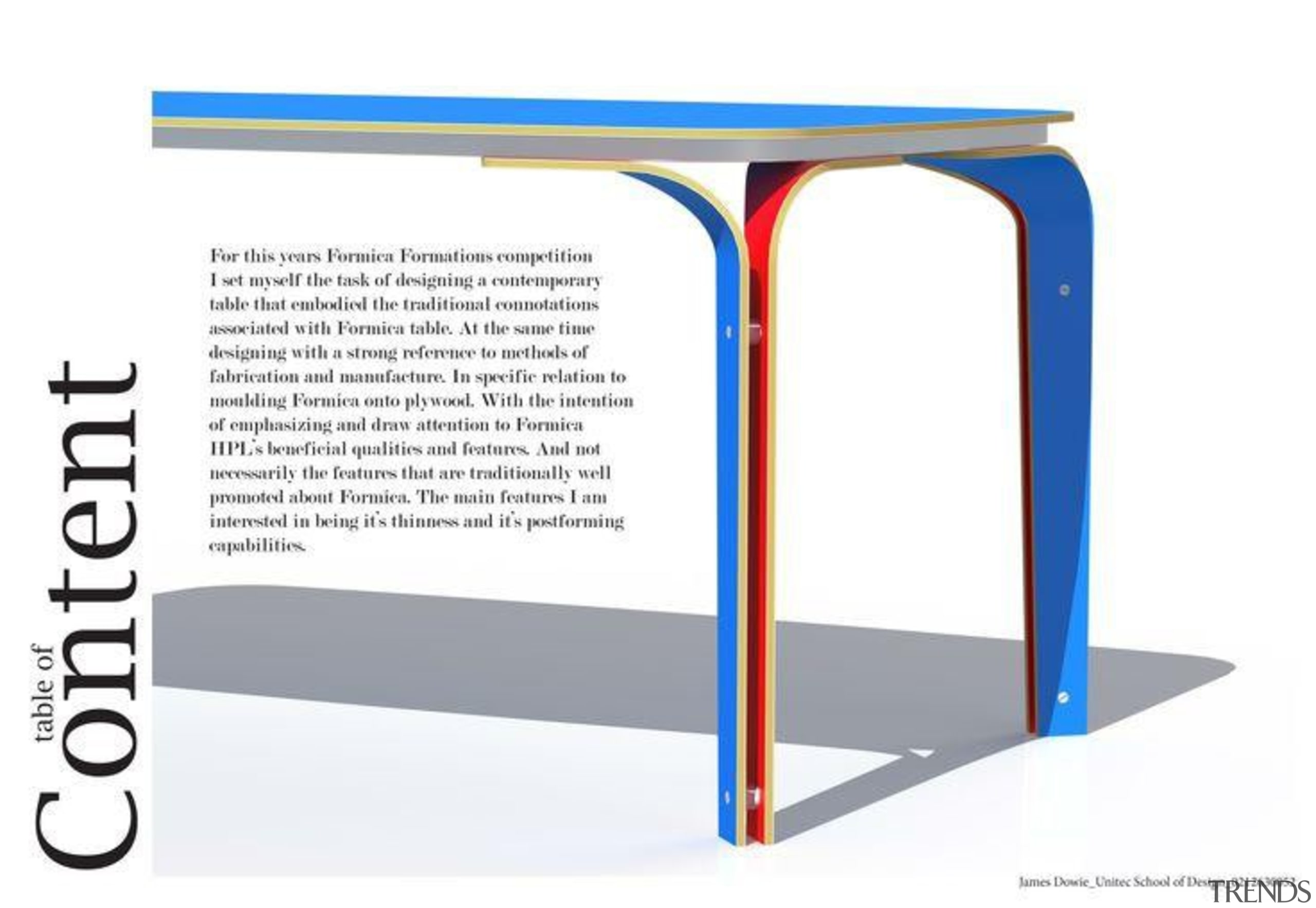 James Dowie - 1st Runner Up, Emerging Category angle, design, font, furniture, line, product, product design, table, text, white