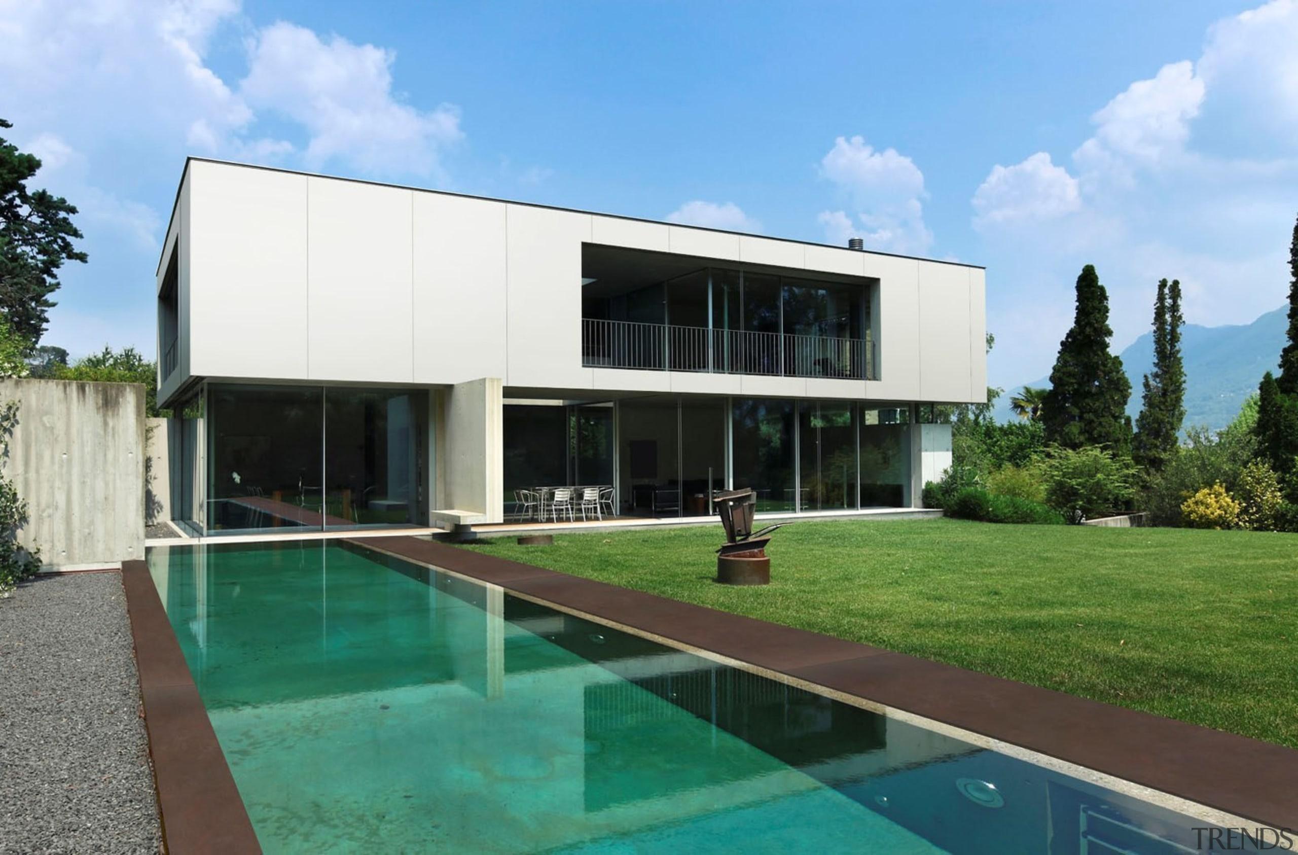 ZENITH & KADUM - ZENITH & KADUM - architecture, estate, facade, home, house, property, real estate, residential area, swimming pool, villa, teal
