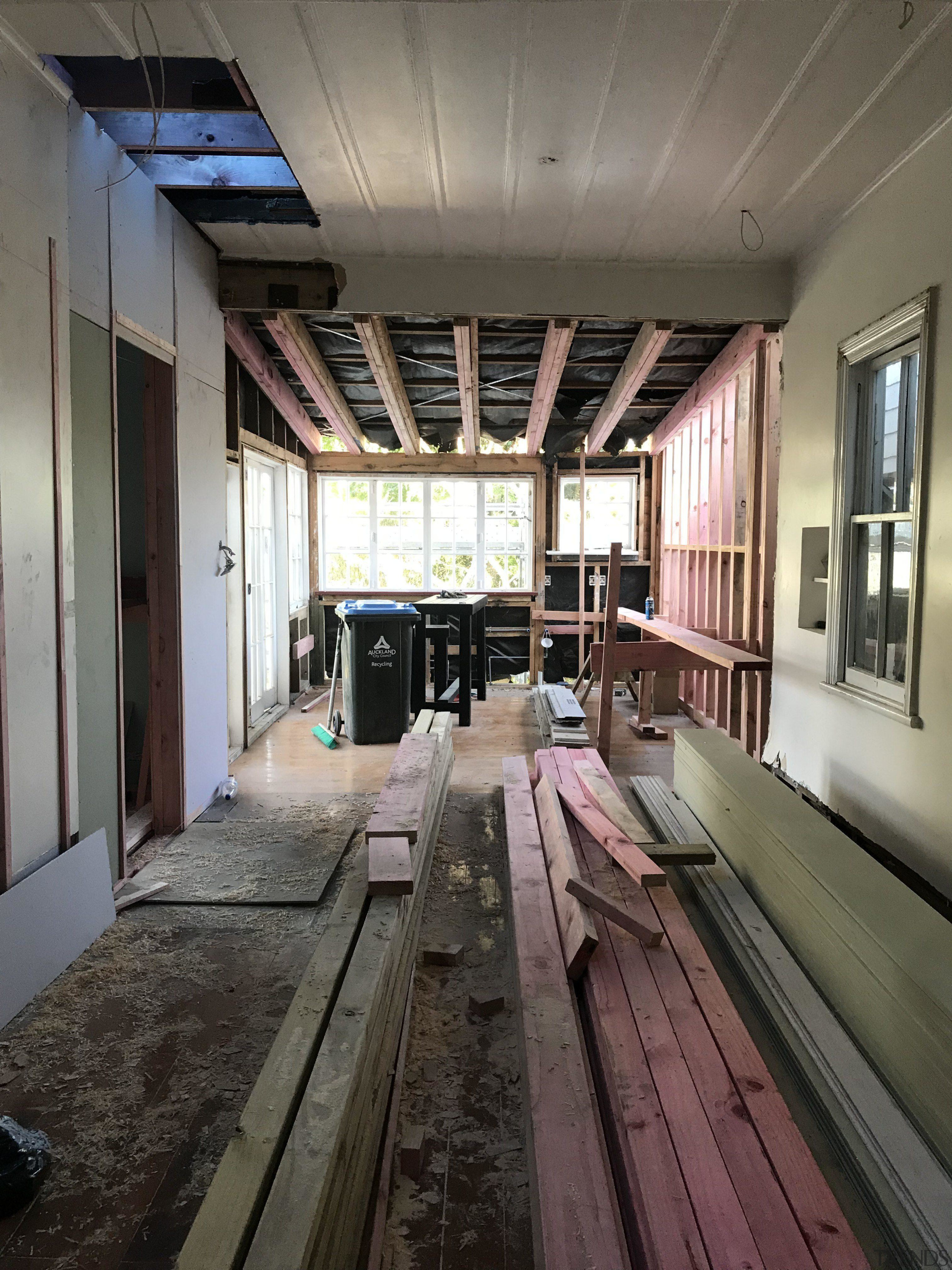 Diary of a renovation: Volume two - architecture architecture, building, ceiling, floor, room, wood, gray, black