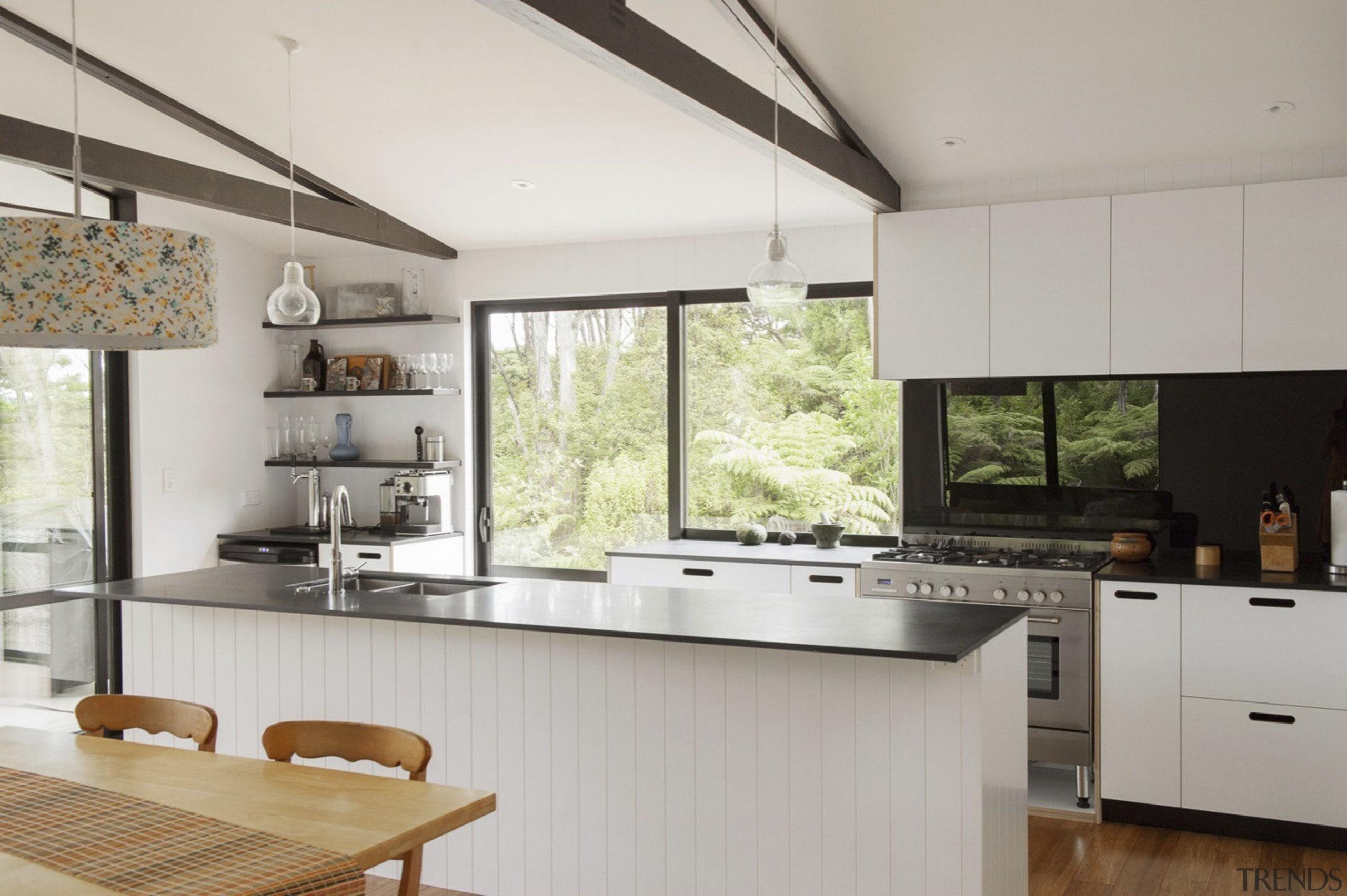 City meets country at Karaka Lakes - City countertop, cuisine classique, interior design, kitchen, real estate, gray