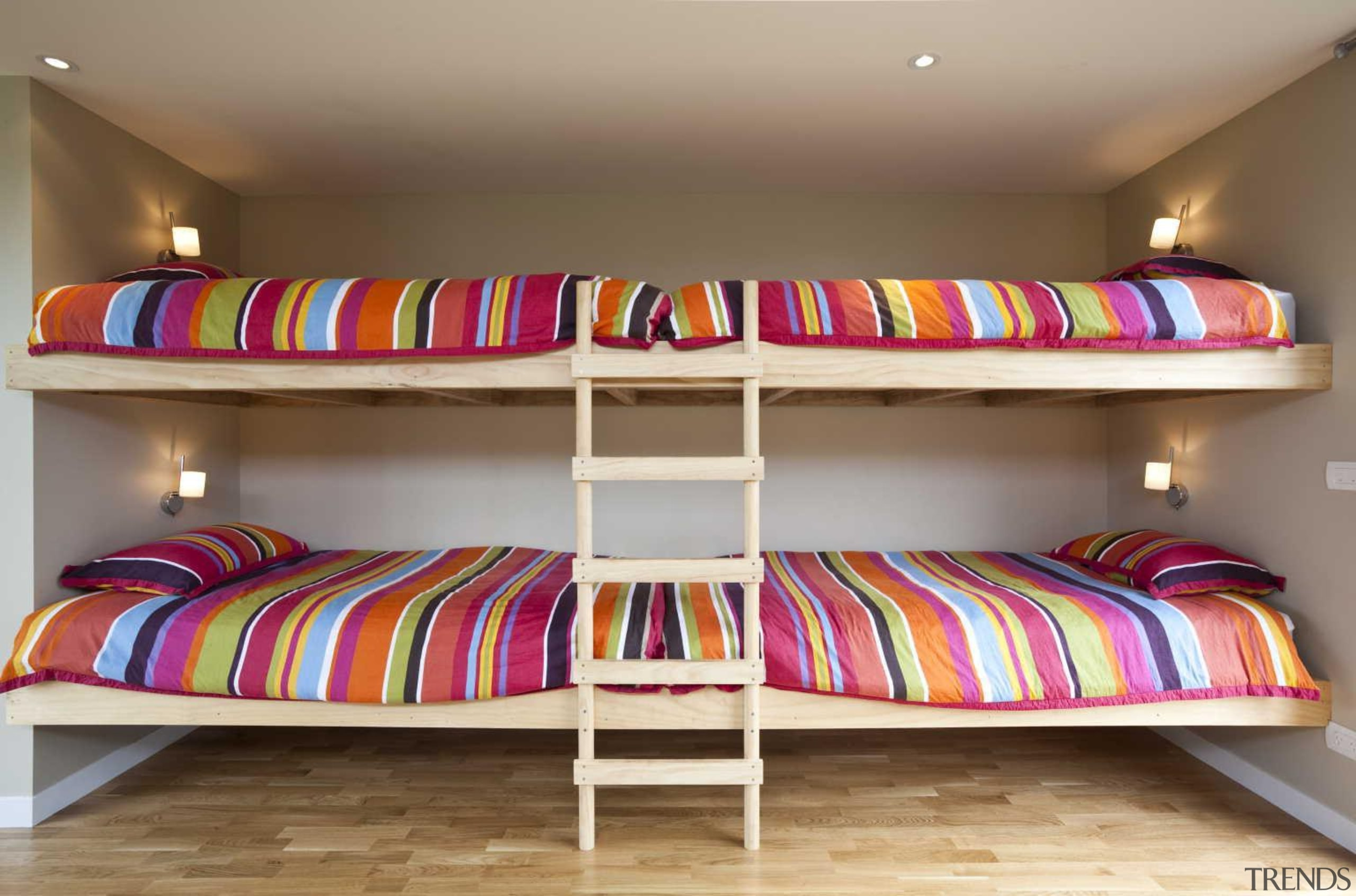Bed bunk bedroom timber - Bed bunk - bed, bed frame, bedroom, bunk bed, furniture, interior design, product, room, brown, gray