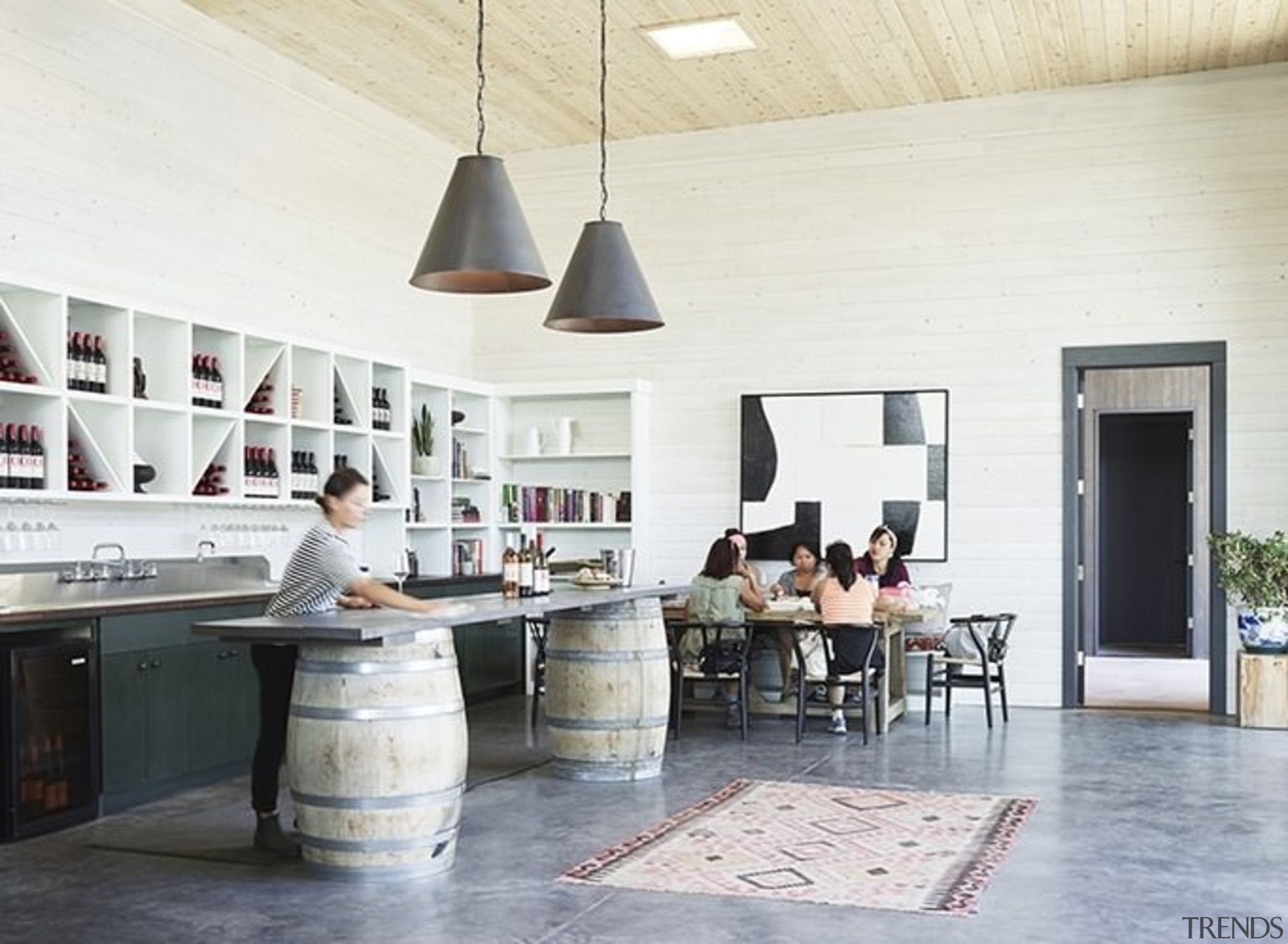 Architect: goCstudioPhotography by Kevin Scott, Kelly Turso ceiling, floor, flooring, furniture, interior design, table, white, gray