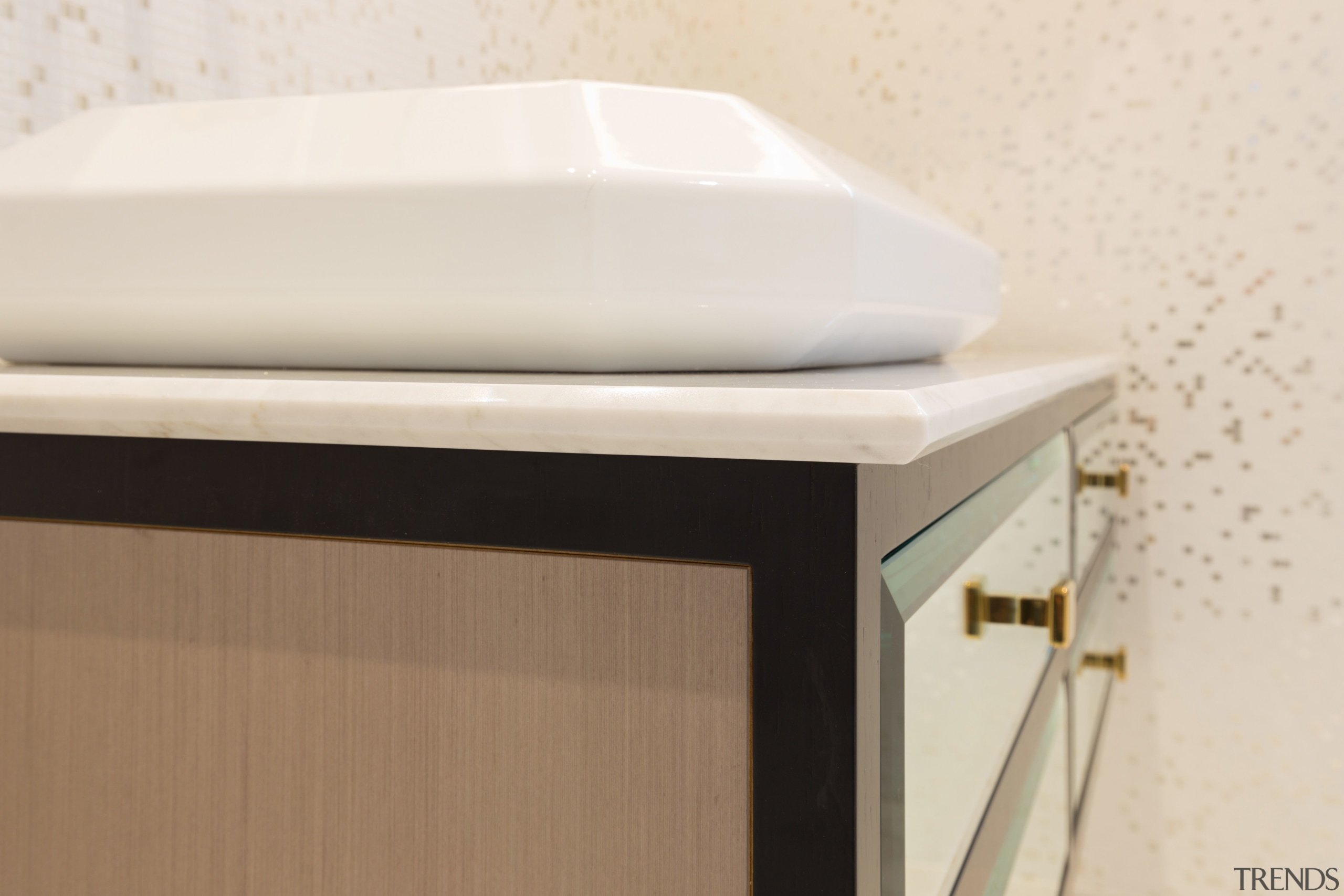 A bevelled edge on the basin is echoed plumbing fixture, product design, white