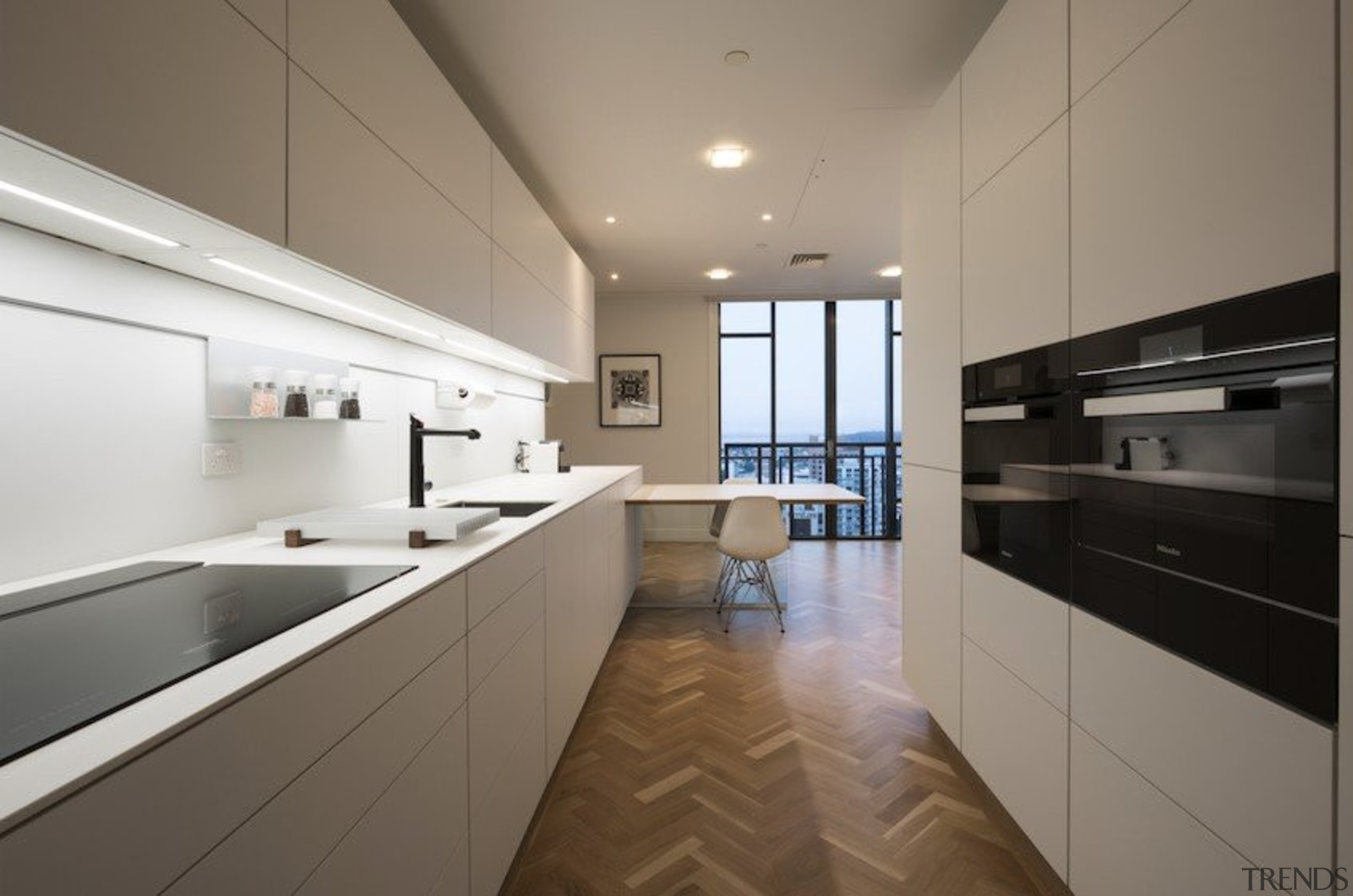 Highly Commended in the Category Imported Kitchen - apartment, architecture, cabinetry, countertop, cuisine classique, floor, house, interior design, kitchen, property, real estate, room, gray