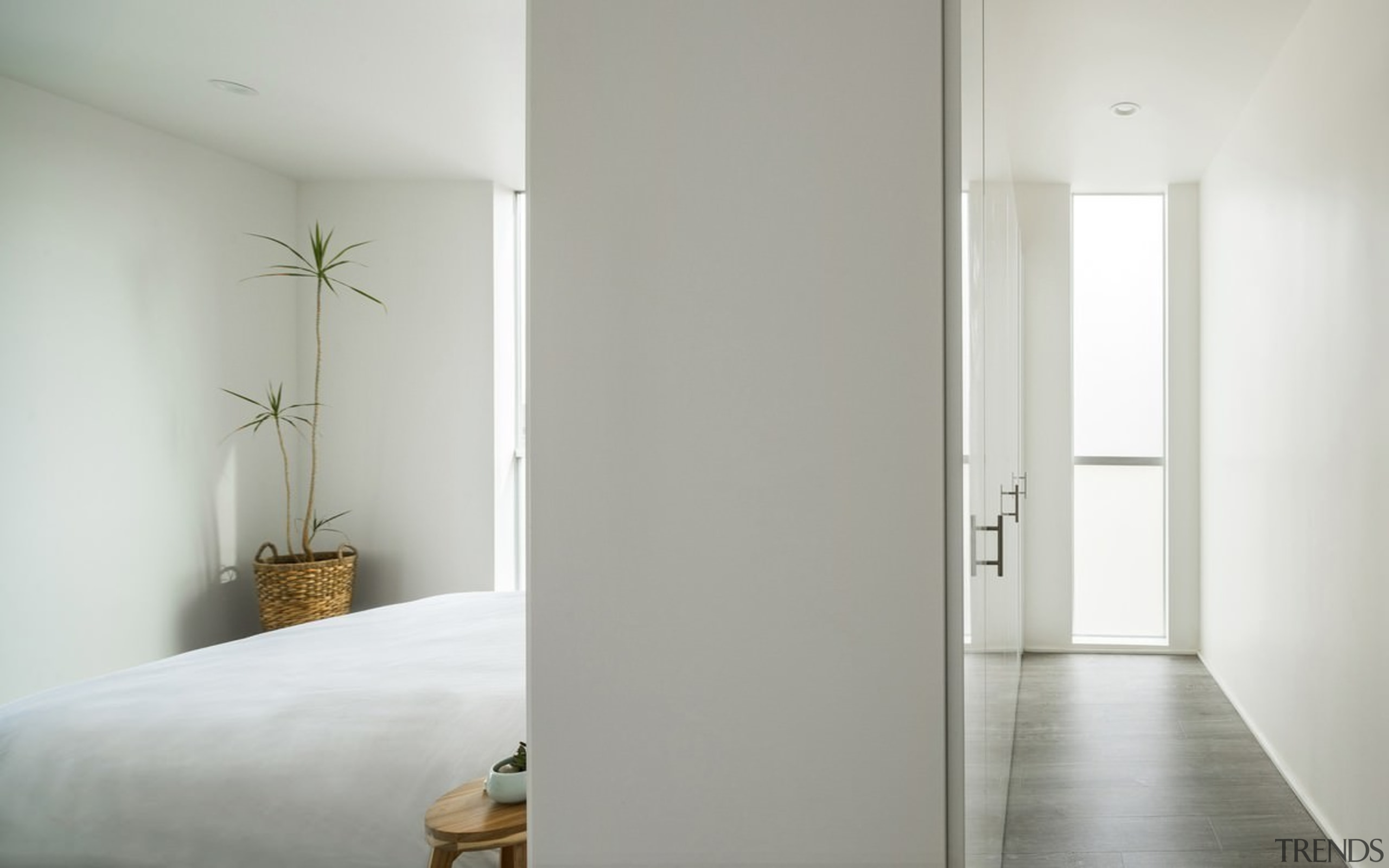The apartments feature ample storage – an important apartment, architecture, ceiling, daylighting, door, floor, home, house, interior design, plaster, property, real estate, room, wall, window, wood, gray
