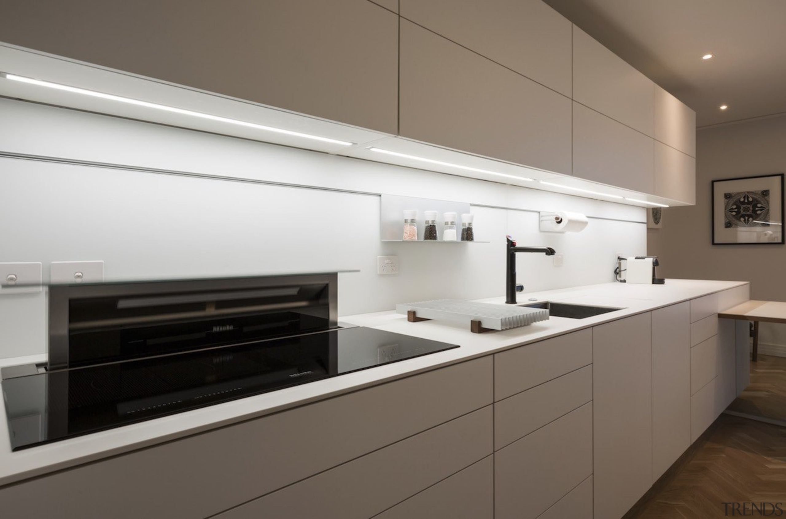 Highly Commended in the Category Imported Kitchen - cabinetry, countertop, cuisine classique, home appliance, interior design, kitchen, kitchen stove, product design, gray