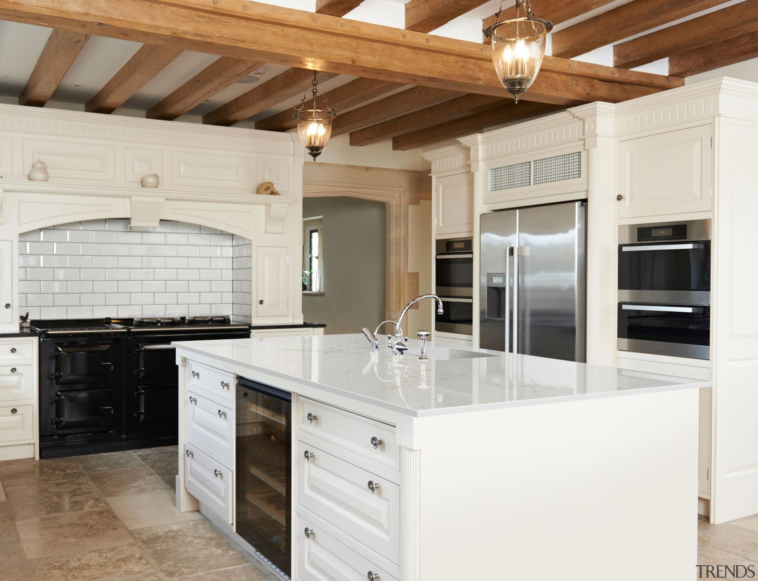 Dekton Glacier XGLOSS Kitchen Countertop - Dekton Glacier cabinetry, countertop, cuisine classique, home, kitchen, real estate, room, white