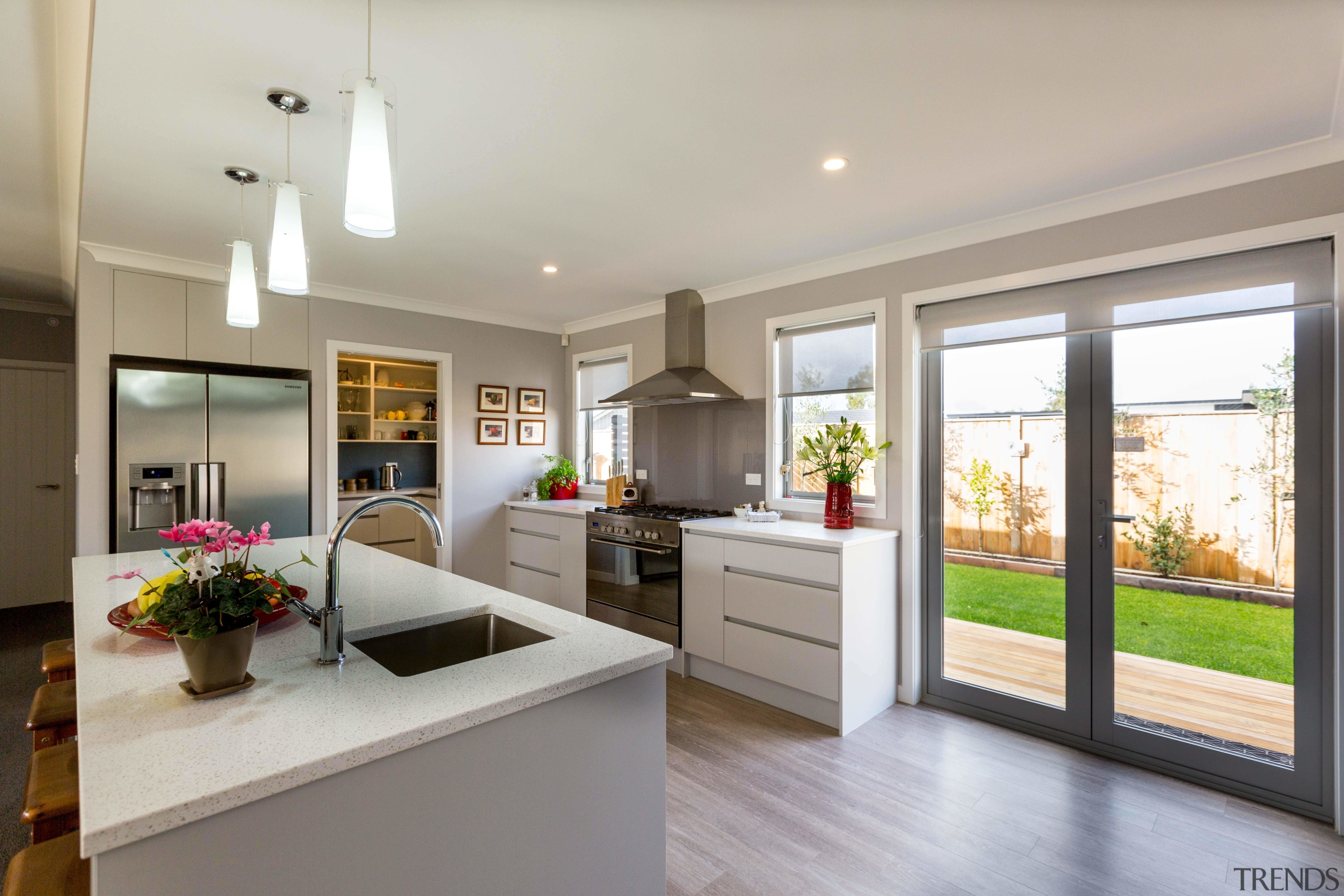The kitchen is the centre of operations in countertop, home, interior design, kitchen, property, real estate, window, gray