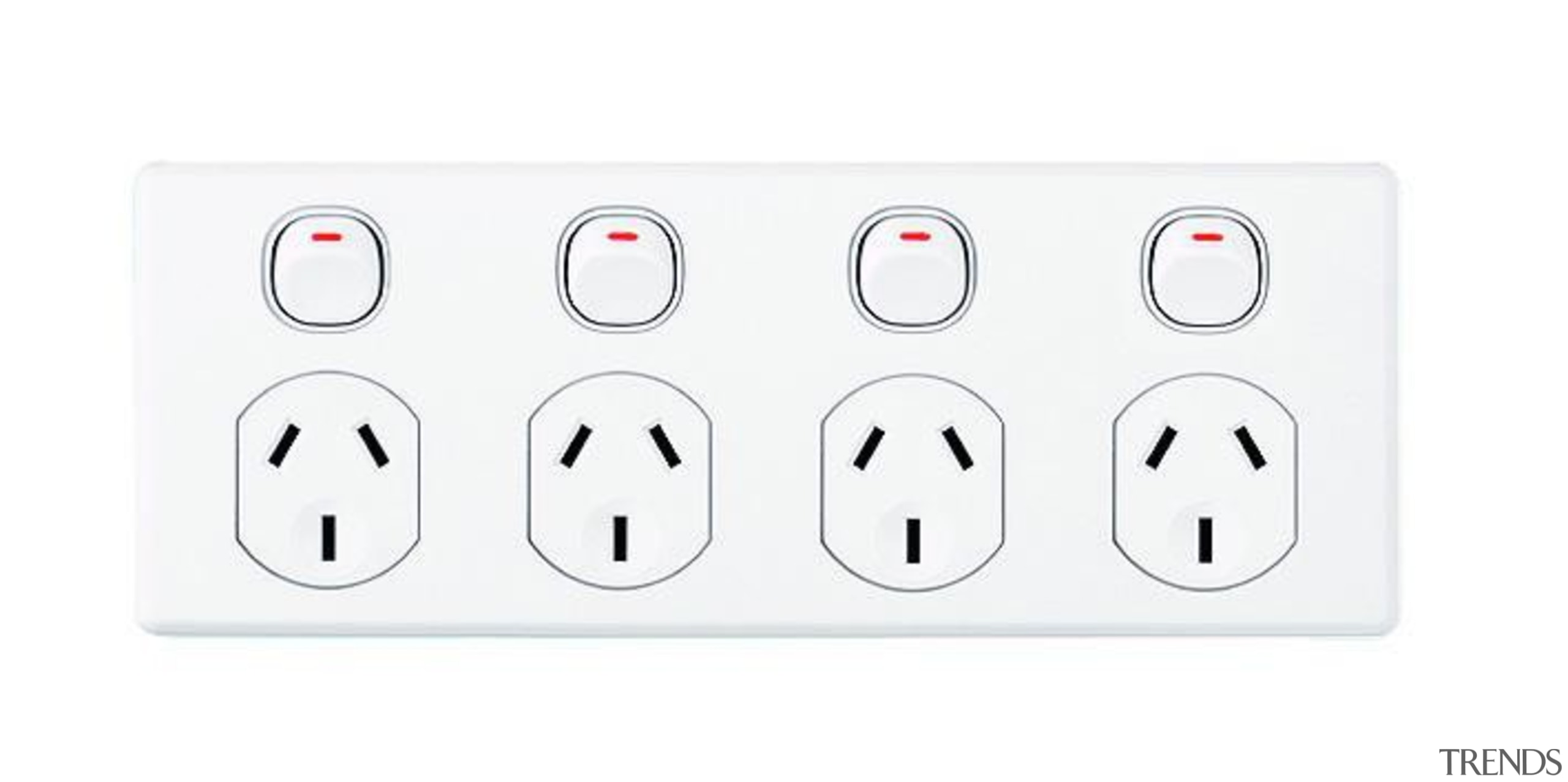 Classic C2000 quad socket White - C2015D4 - ac power plugs and socket outlets, technology, white