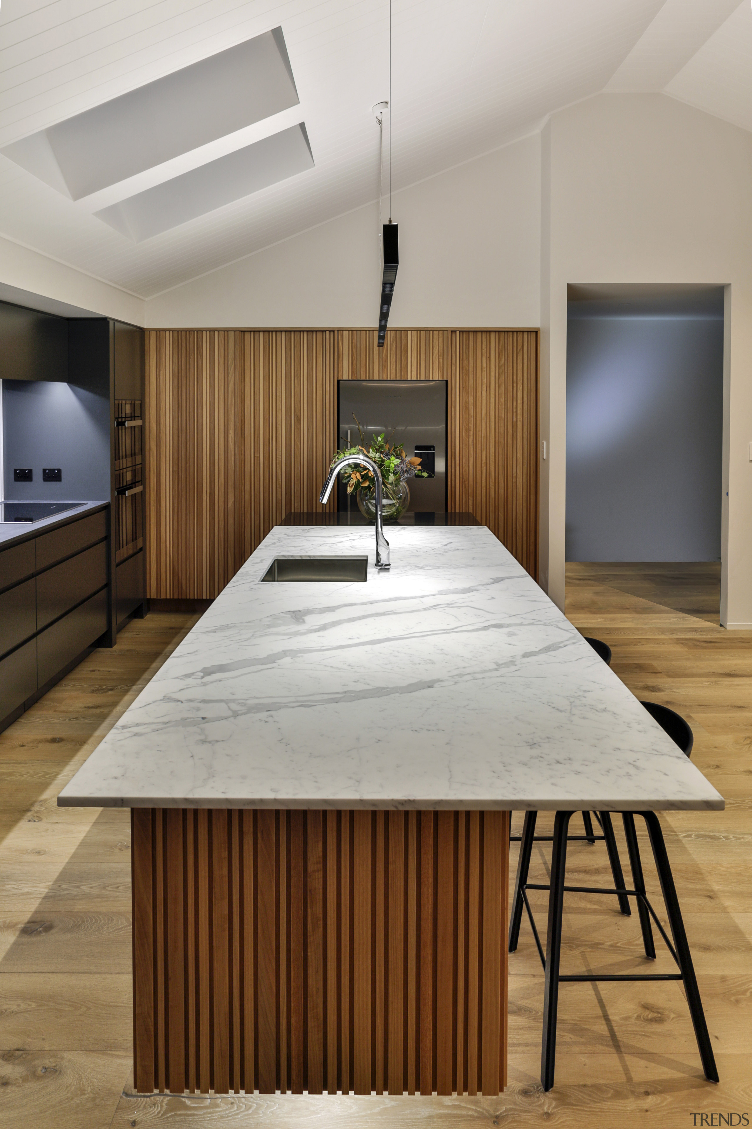 Half Moon Bay - architecture | countertop | architecture, countertop, floor, flooring, furniture, hardwood, interior design, kitchen, table, wood, wood flooring, gray, brown