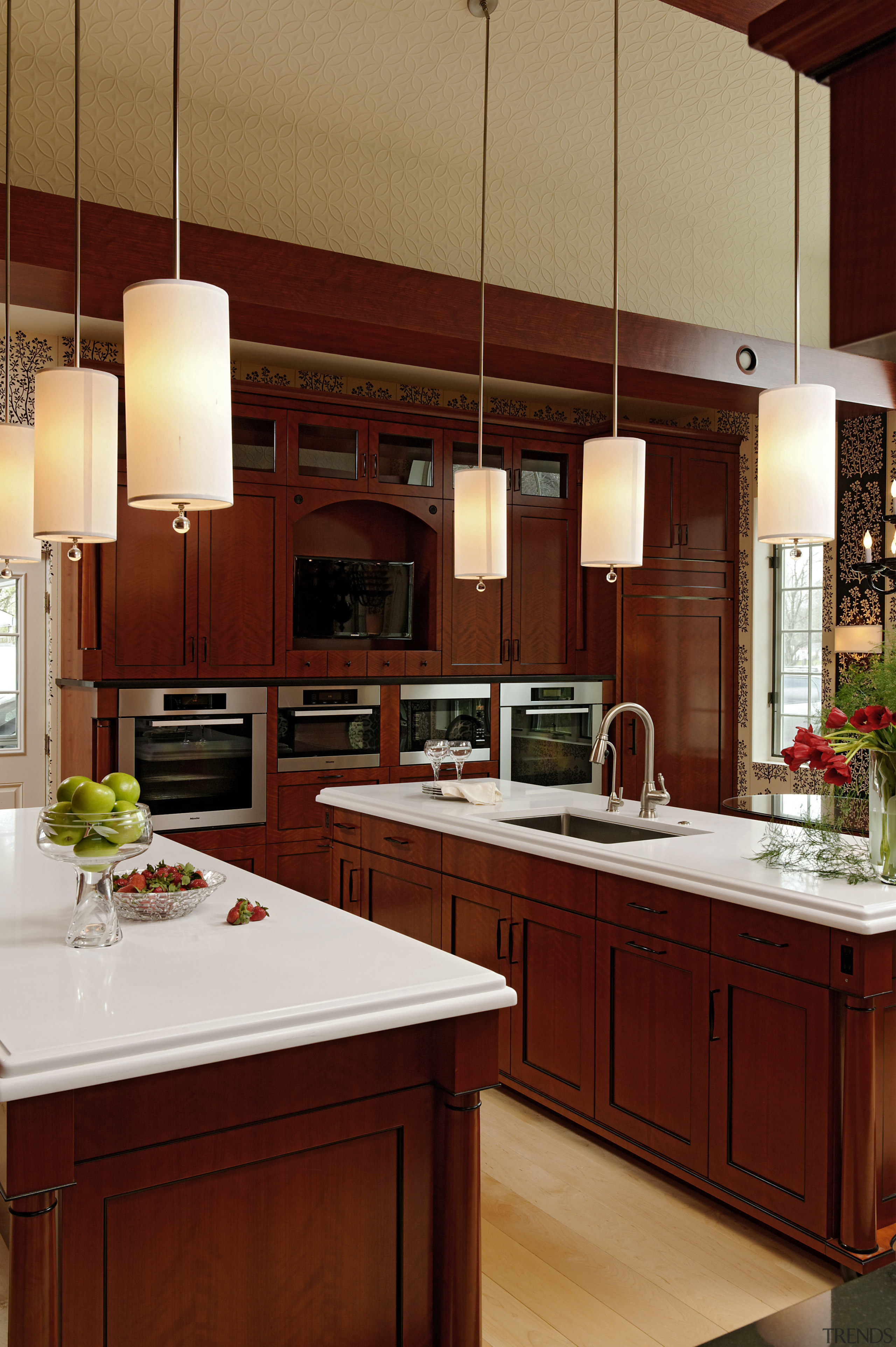 Biedermeier-style traditional kitchen - Biedermeier-style traditional kitchen - cabinetry, countertop, cuisine classique, interior design, kitchen, room, red