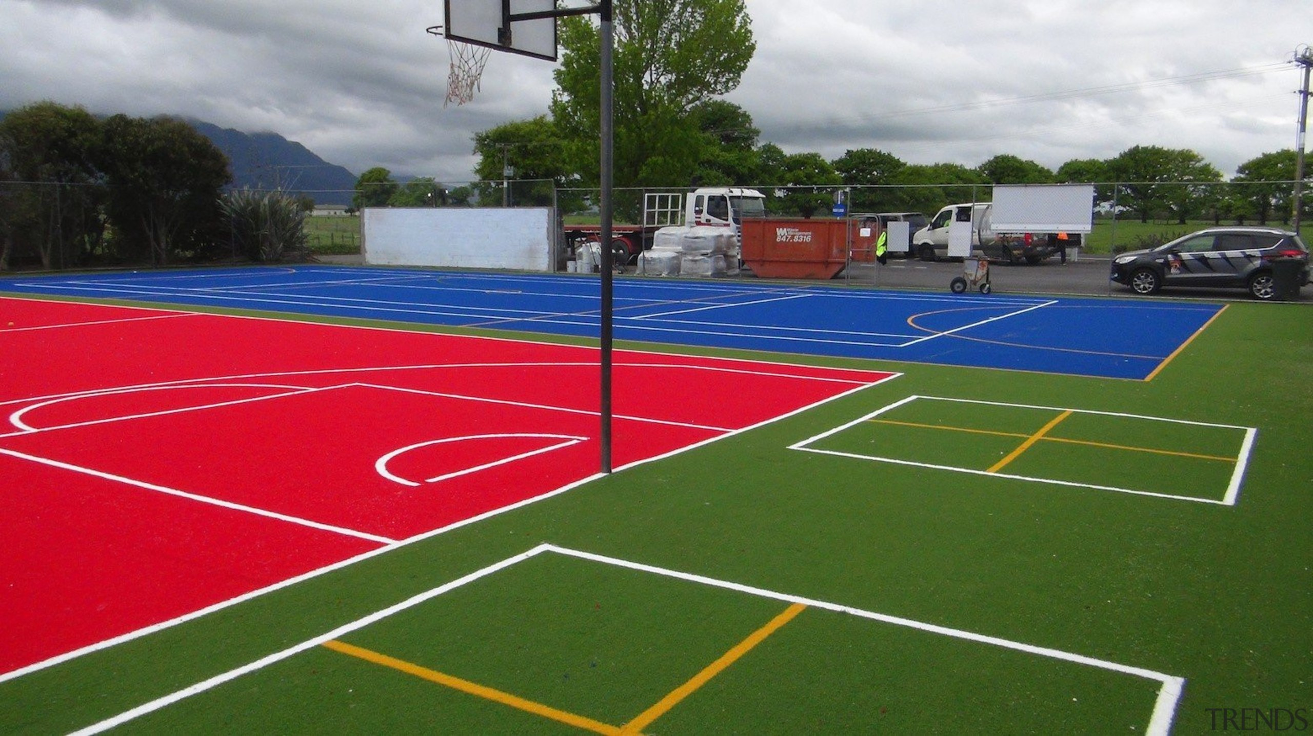 Pre-school, primary & seconday education - Pre-school, primary ball game, grass, line, sport venue, sports, structure, tennis court, green
