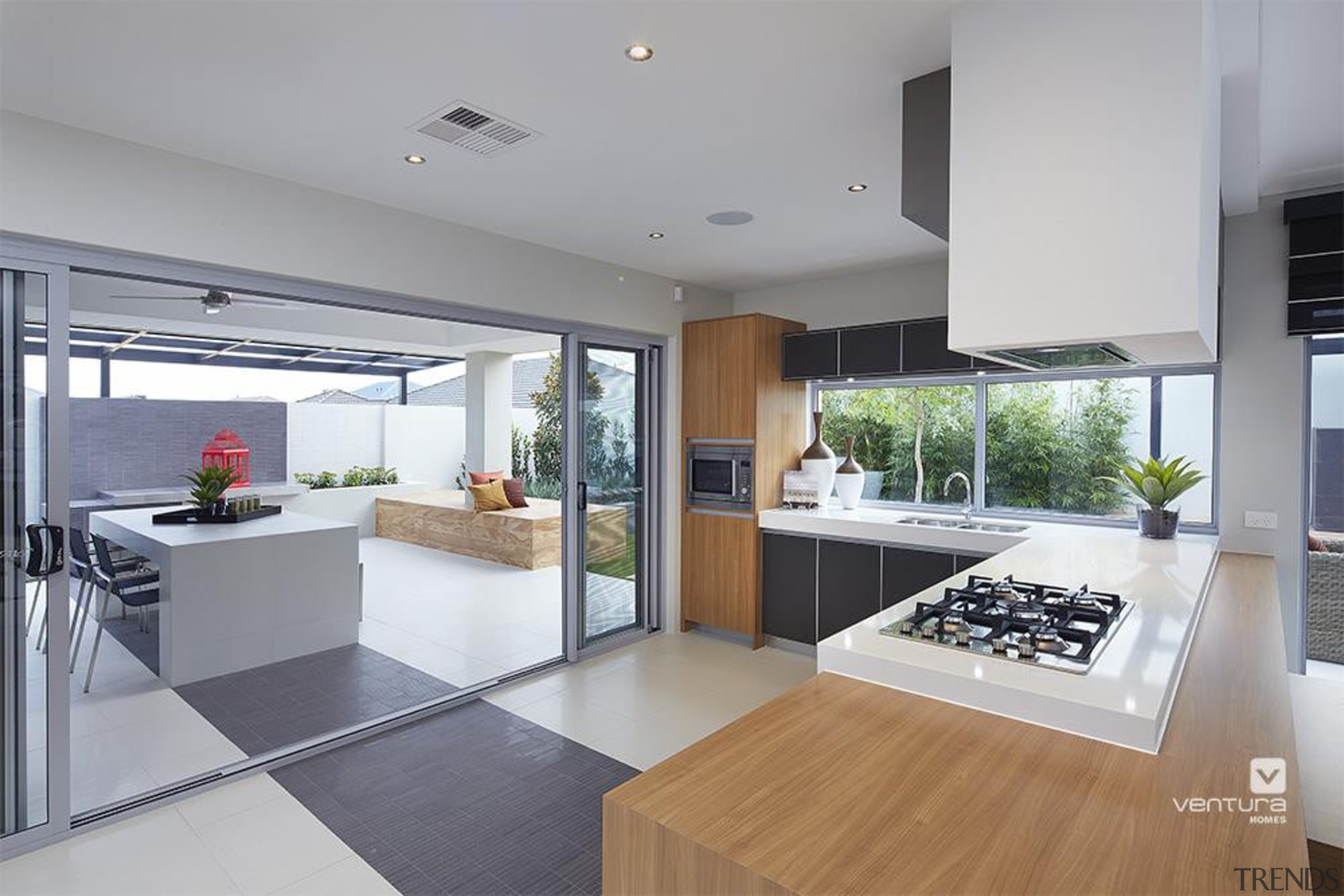 Kitchen design. - The Allure Display Home - countertop, house, interior design, kitchen, real estate, gray