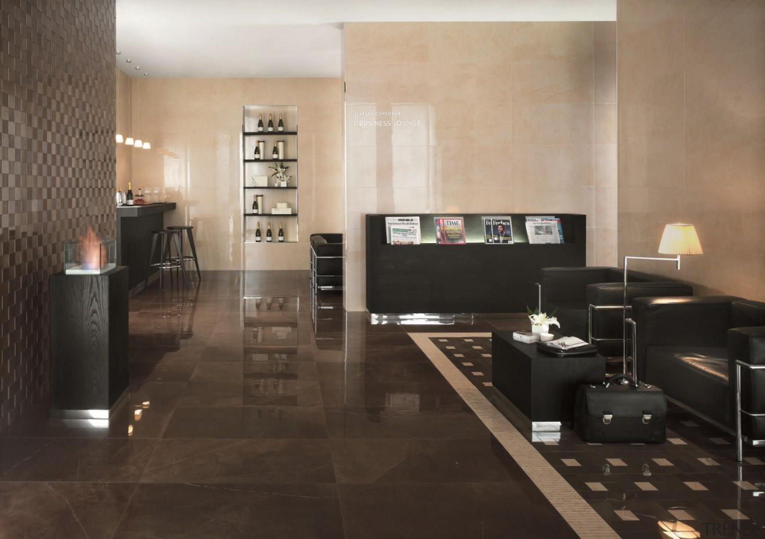 Marvel bronze lounge floor tiles and bronze 3D floor, flooring, furniture, hardwood, interior design, laminate flooring, living room, lobby, room, table, tile, wall, wood, wood flooring, black