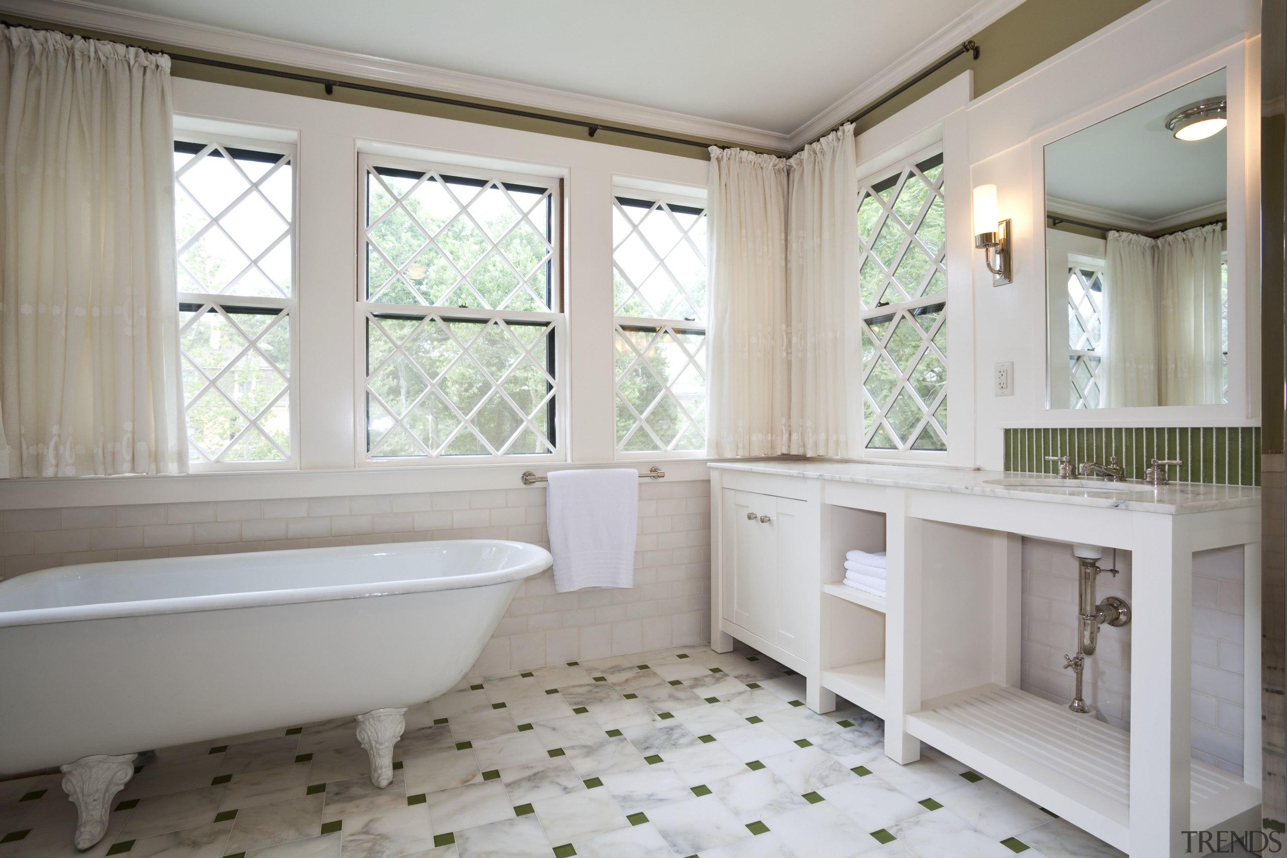 View of home in the historic Brattle Street bathroom, bathtub, estate, floor, flooring, home, interior design, plumbing fixture, property, real estate, room, tile, window, gray