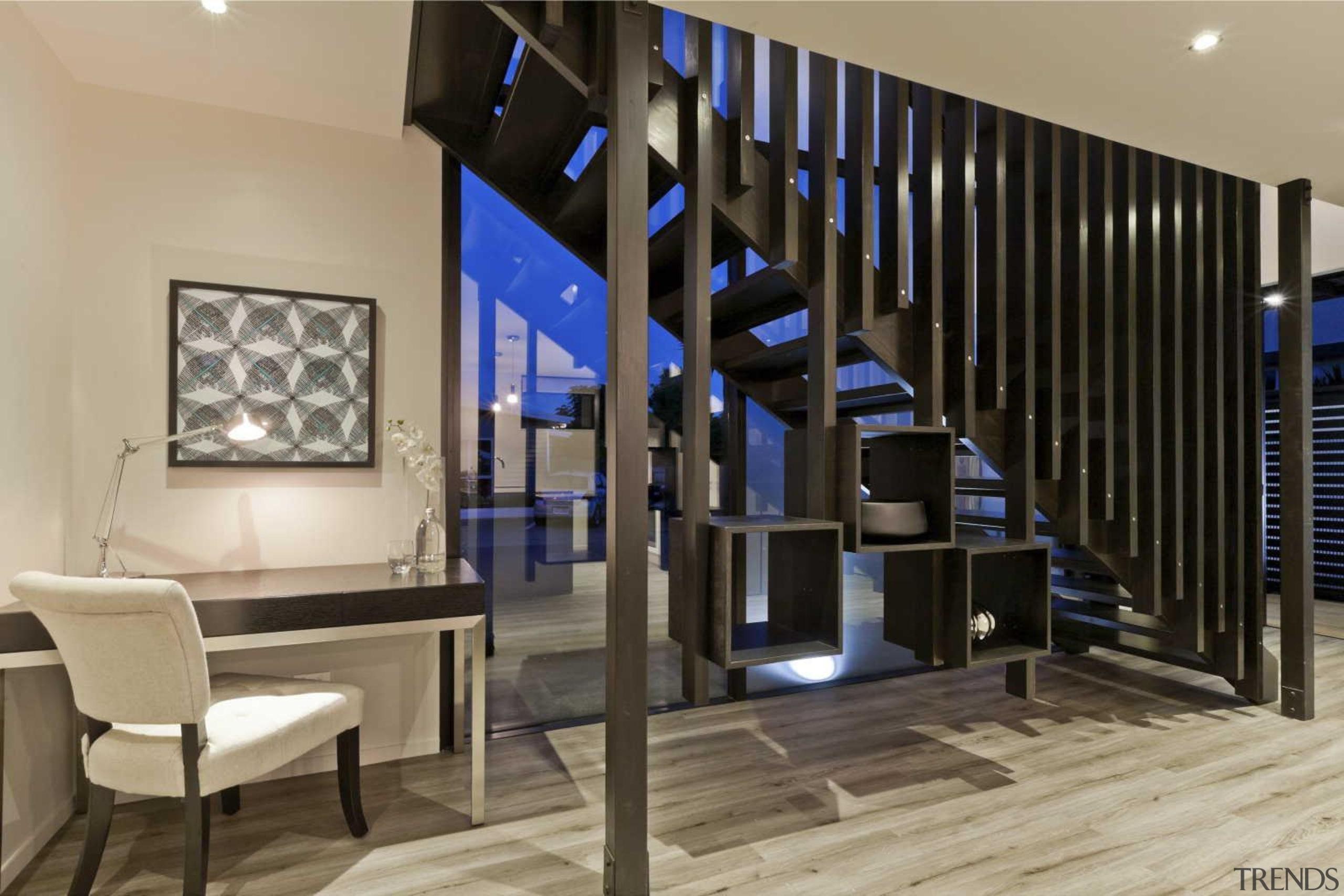 Staircase design by Yellowfox - Staircase - floor floor, flooring, interior design, lobby, stairs, black, orange