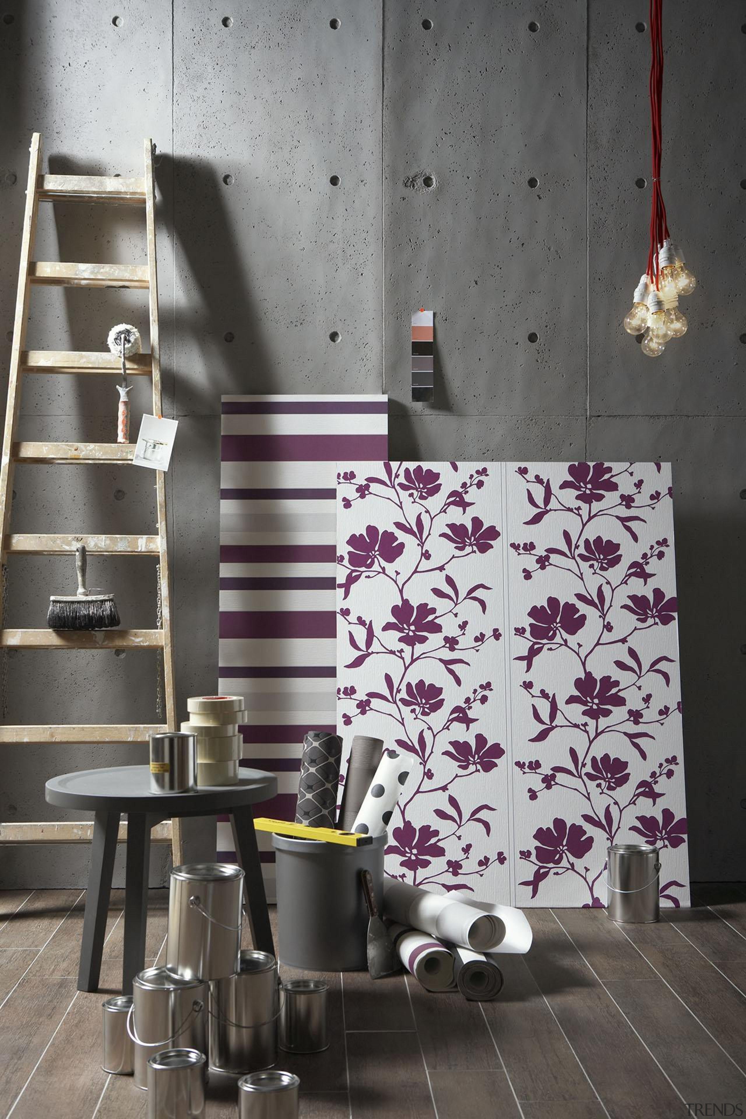 Schoner Wohnen - Modern Style Range - architecture architecture, design, floor, flooring, furniture, interior design, purple, table, wall, gray, black