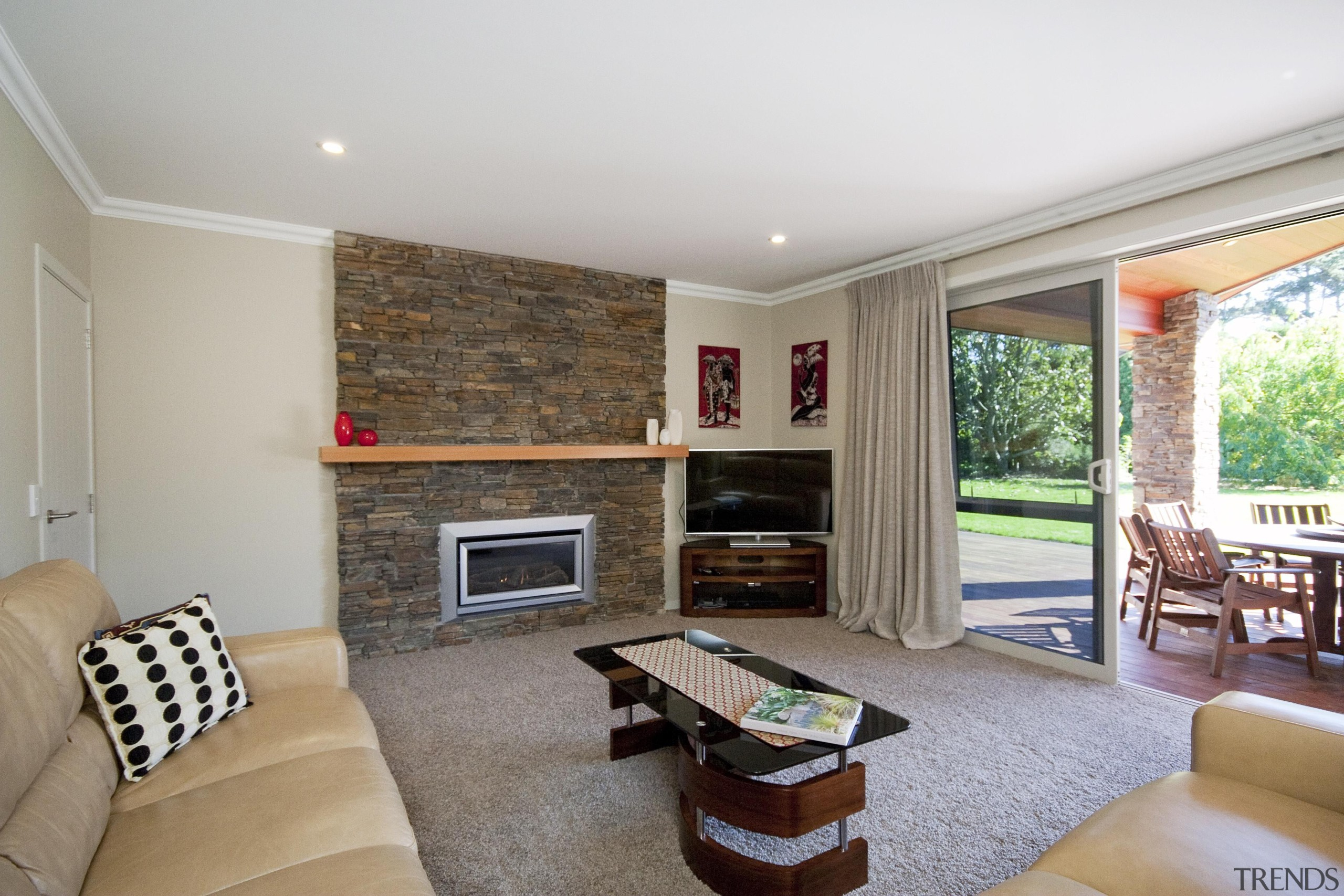 Feature wall and fireplace in a living area ceiling, estate, home, house, interior design, living room, property, real estate, room, gray