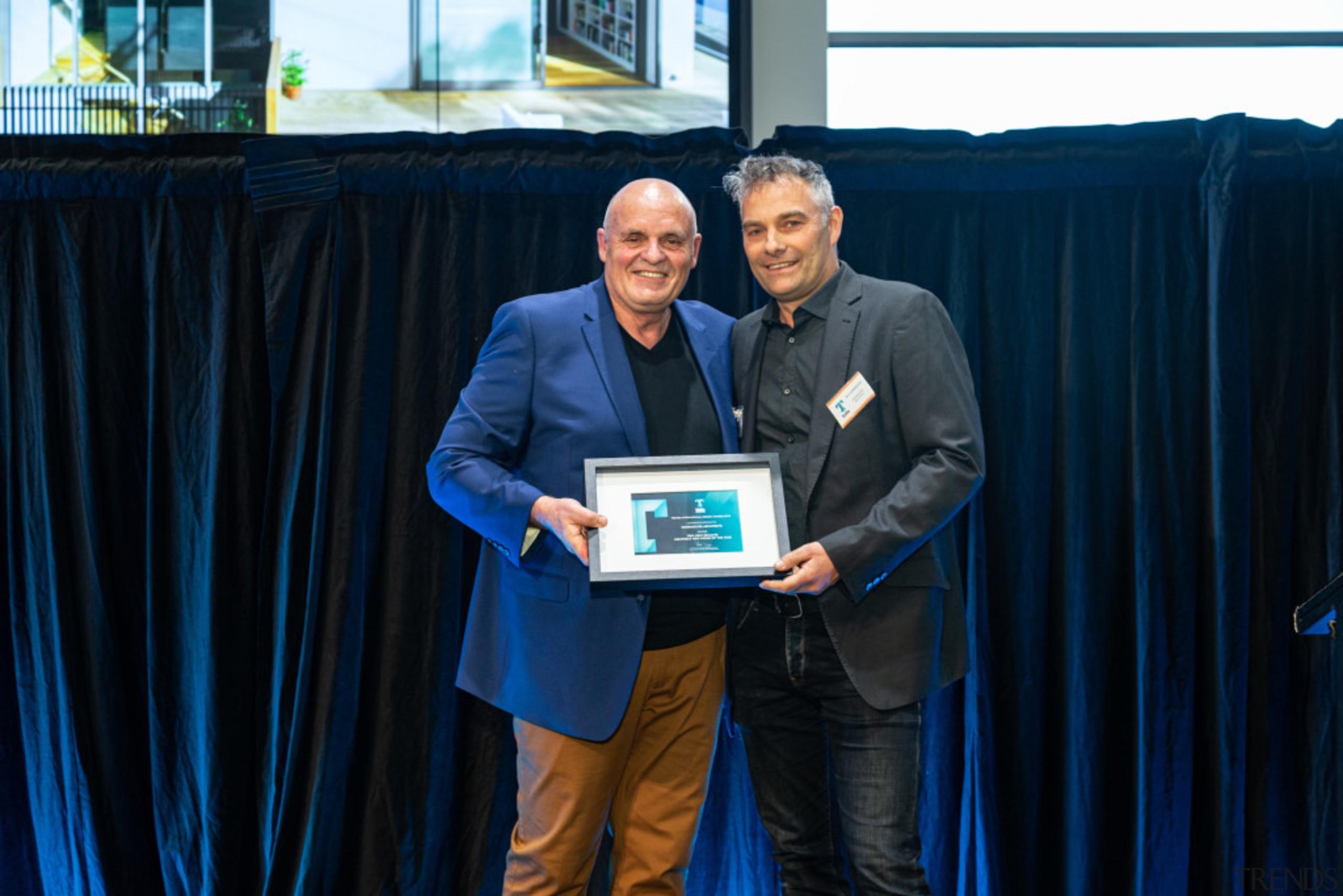 2019 TIDA New Zealand Homes presentation evening award, award ceremony, blue, electronic device, employment, event, technology, blue, black