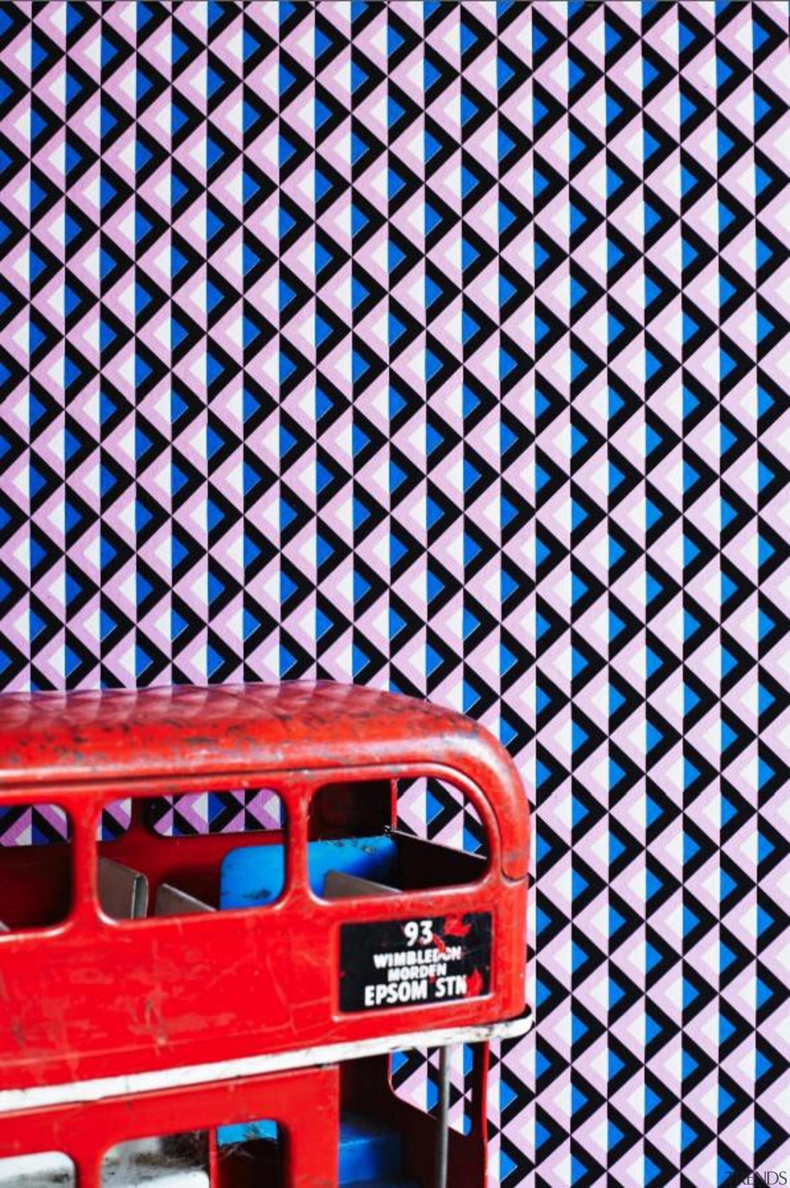 Eley Kishimoto Hand-Printed Wallpaper Collection - Eley Kishimoto blue, design, font, line, mesh, pattern, red, text