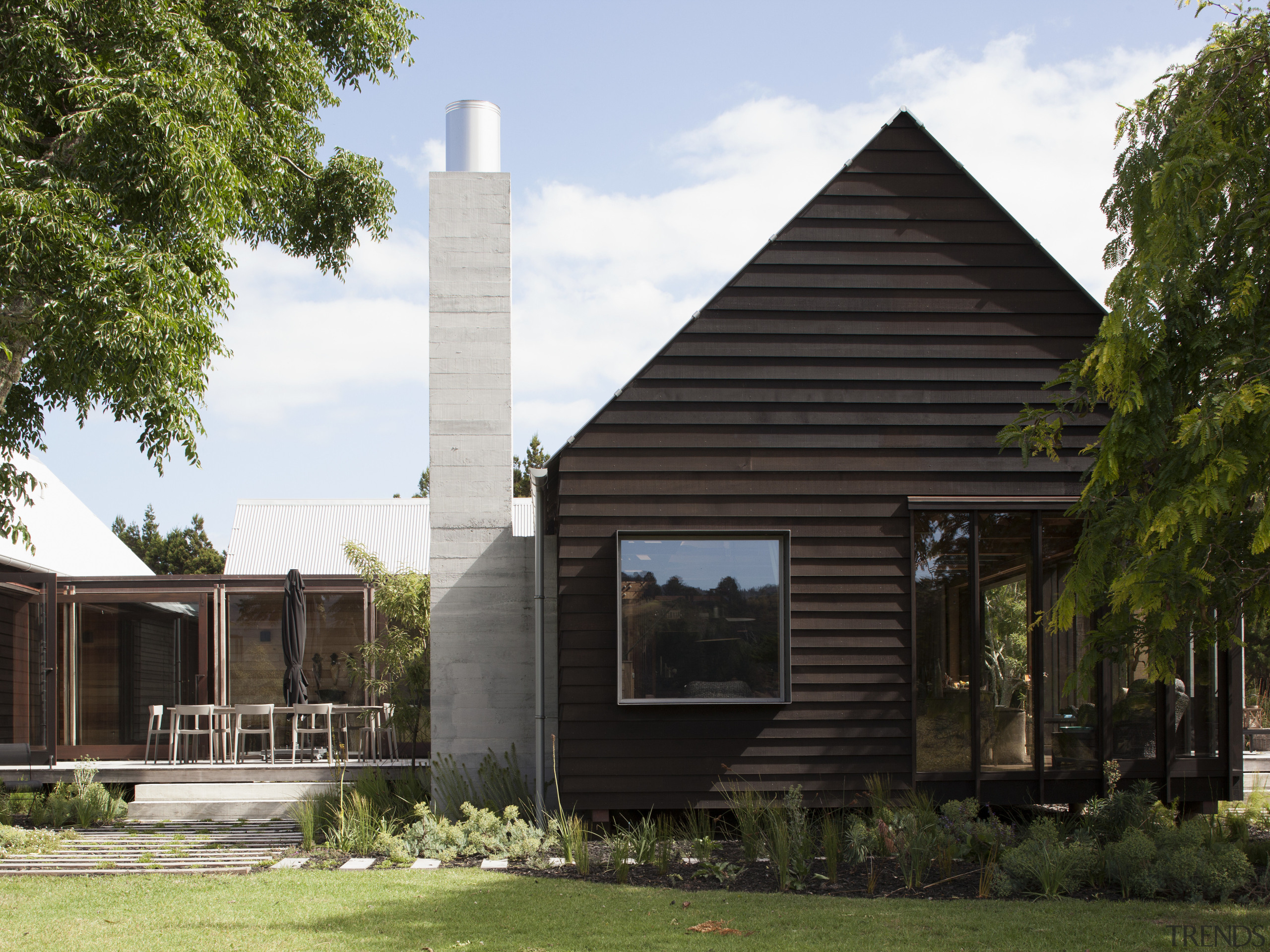 This home took out winner of the Carter architecture, cottage, facade, farmhouse, home, house, property, real estate, black, white